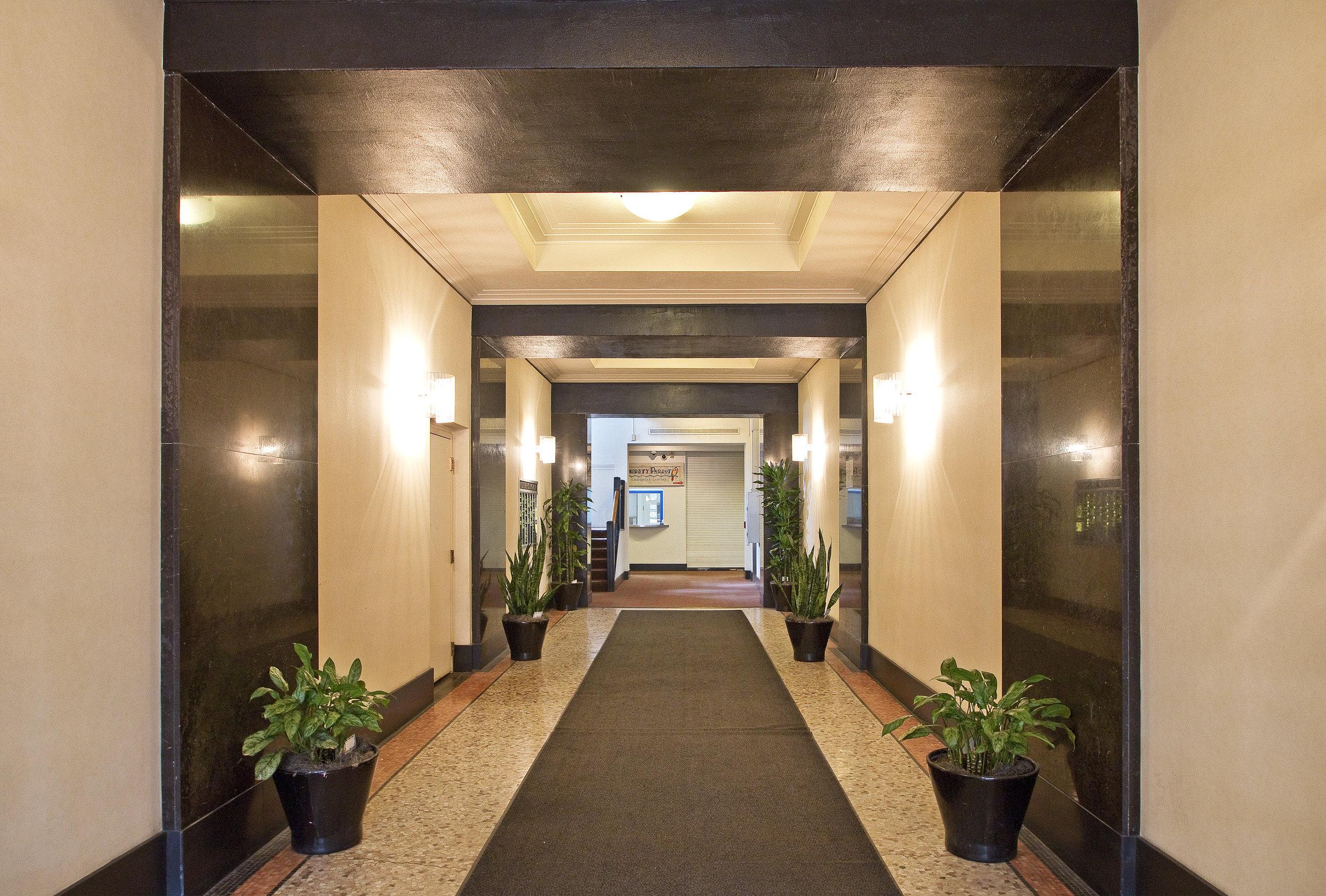 caxton building front entrance hallway