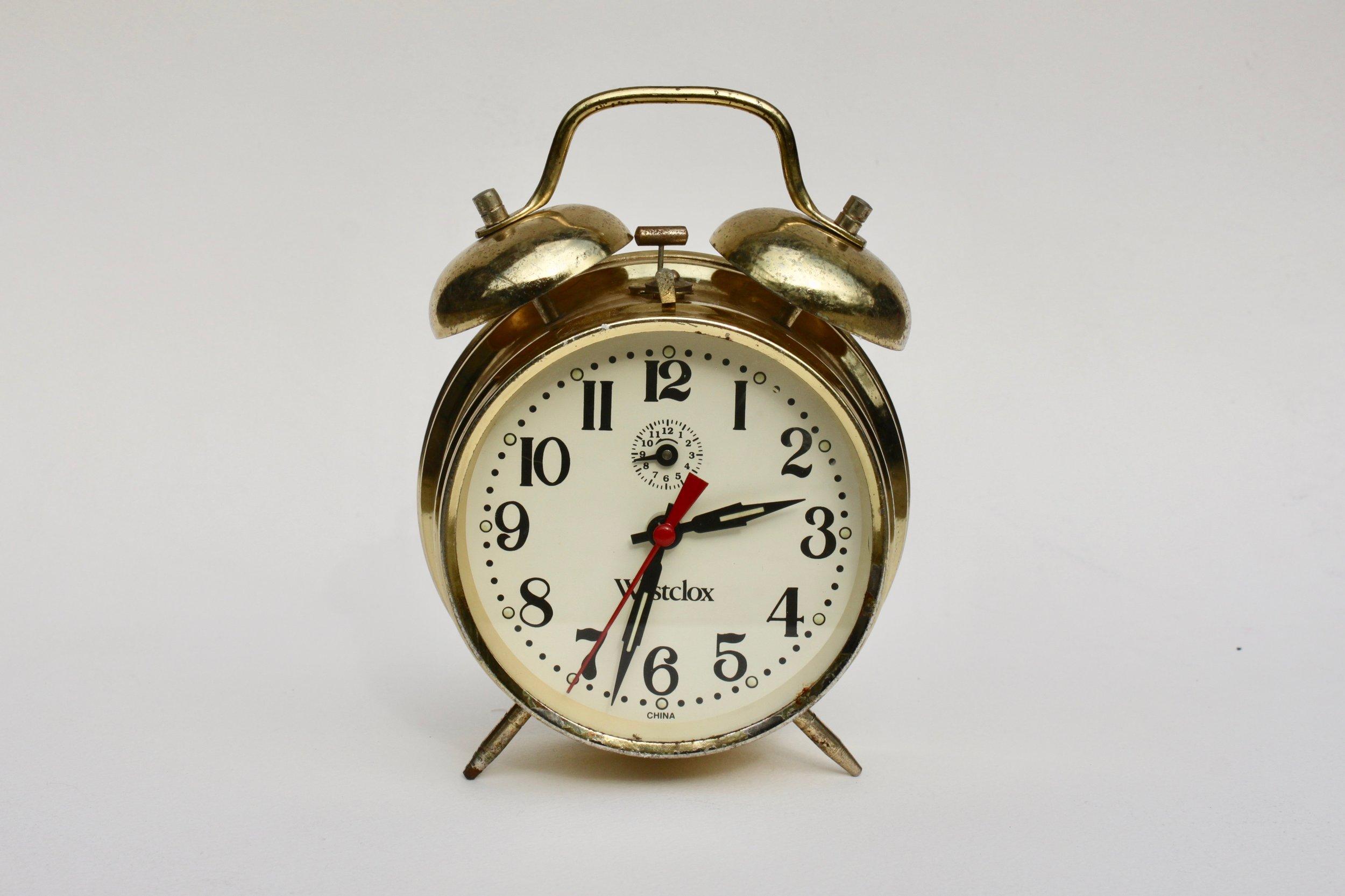 """STOLEN TIME ( 04.2016 - NY )   stolen Westclox clock  6 """" in diameter"""