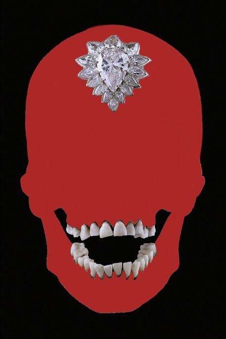 FOR THE LOVE Damion Hurst: For The Love of Diamonds digital Collage. 2018 2:3