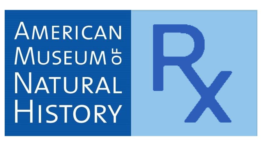 NATURAL HISTORY RX AMNH Logo & text digital collage. 2019 16:9
