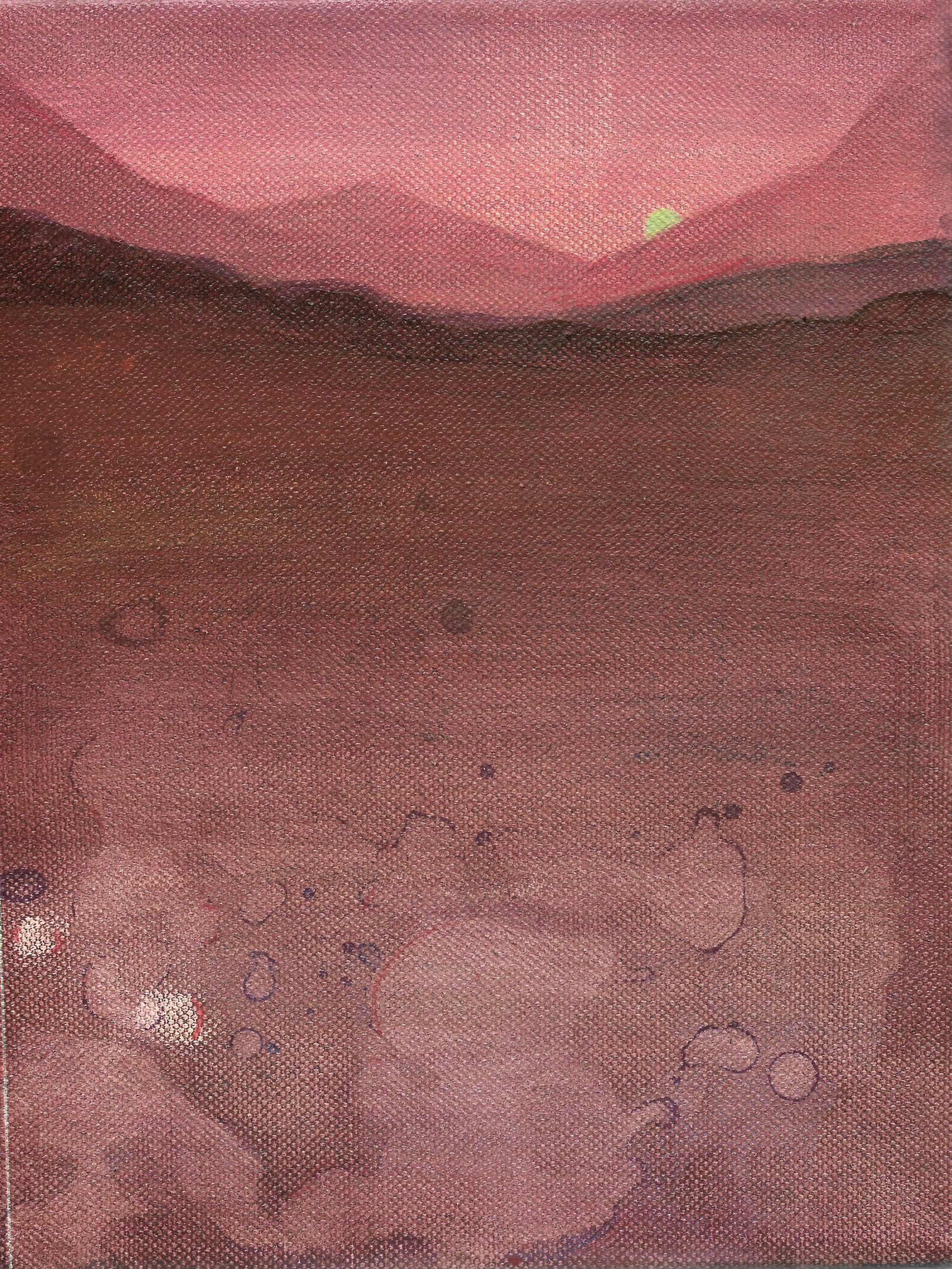 DESERT  **   paint on canvas.  2019 5 in x 8 in