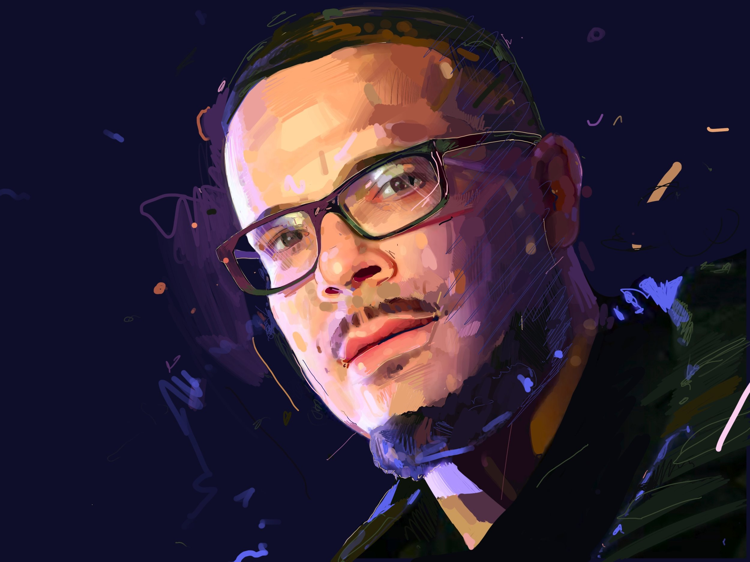 SHAUN  digital painting.  2019 4:3