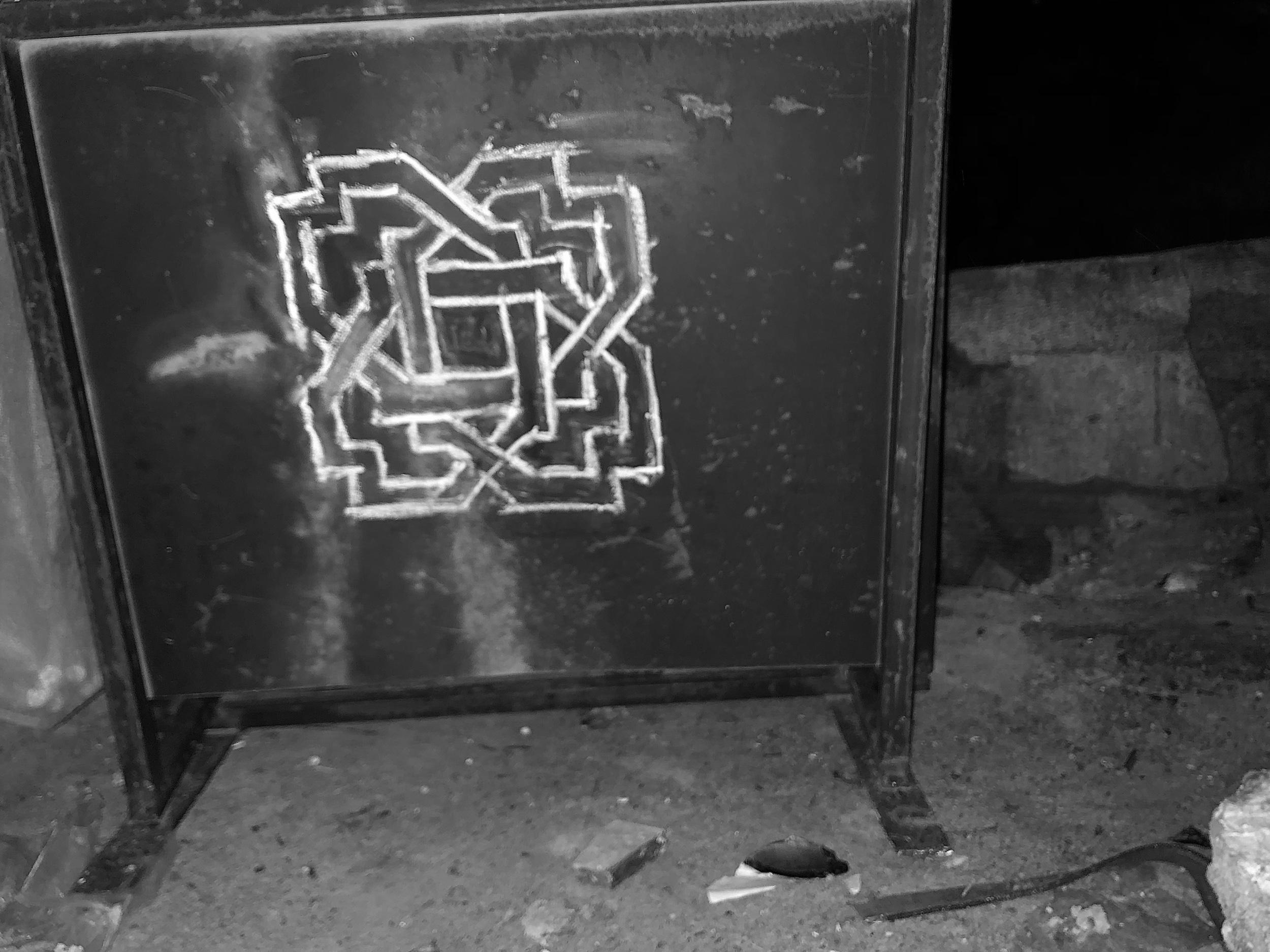 ALTER.ed v5 - Medina, Sefrou, Morocco metal sign & chalk. 2018