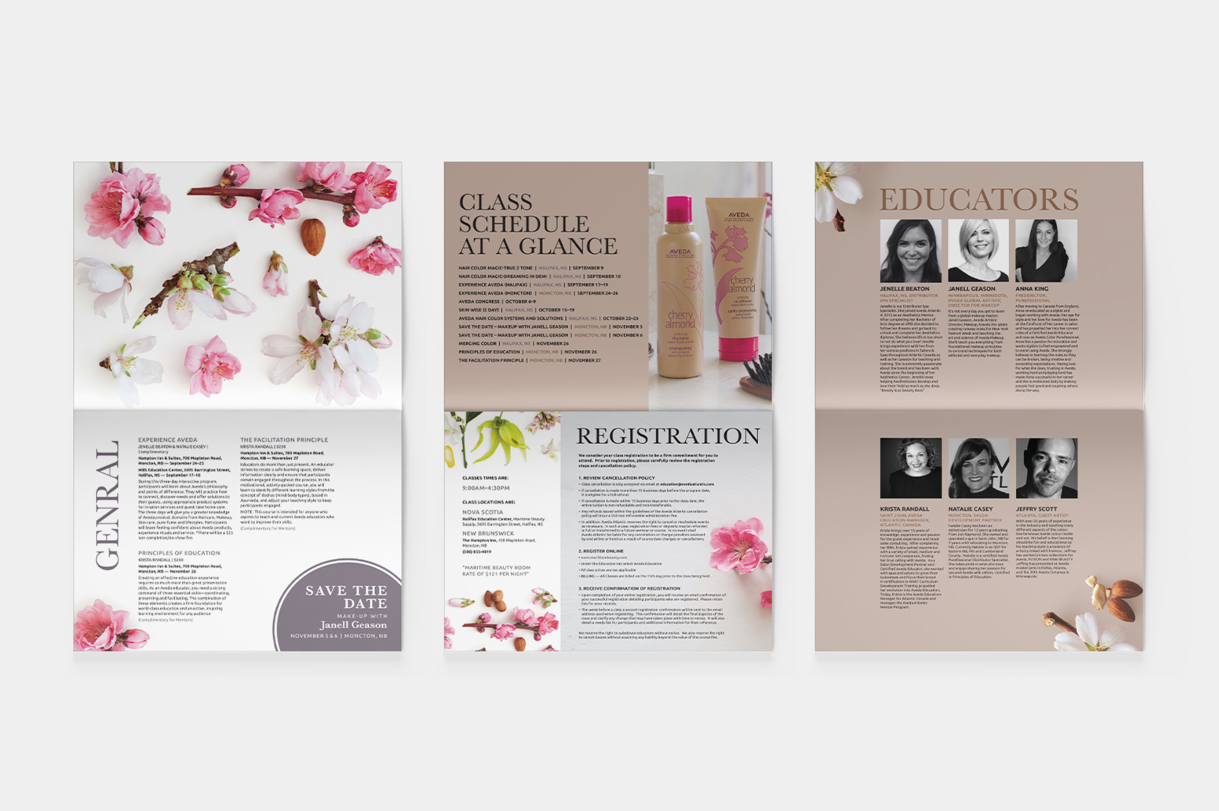 Aveda Print Collateral
