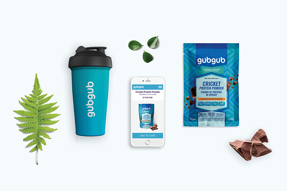 gubgub Cricket Protein Shaker and Mobile Site