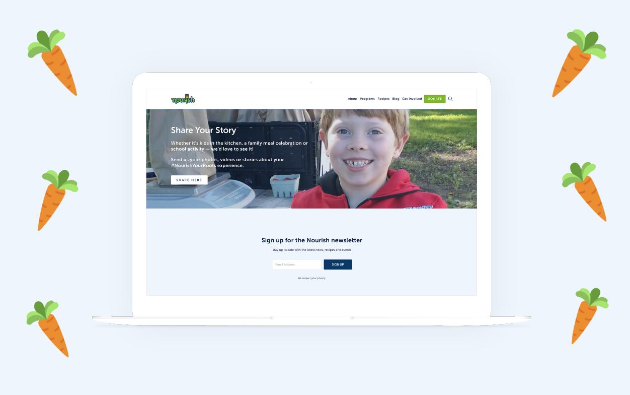 Nourish Webpage