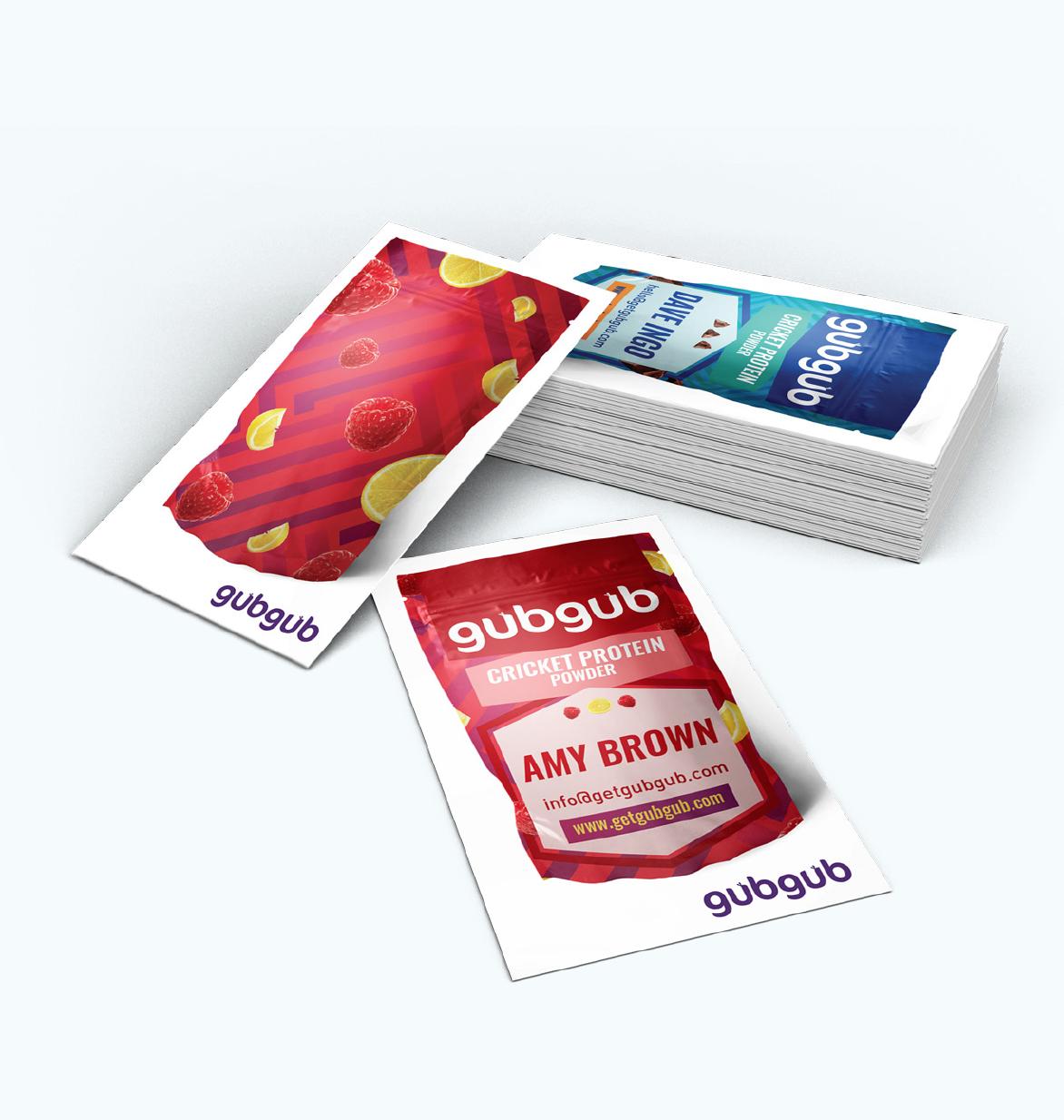 gubgub Cricket Protein Business Cards