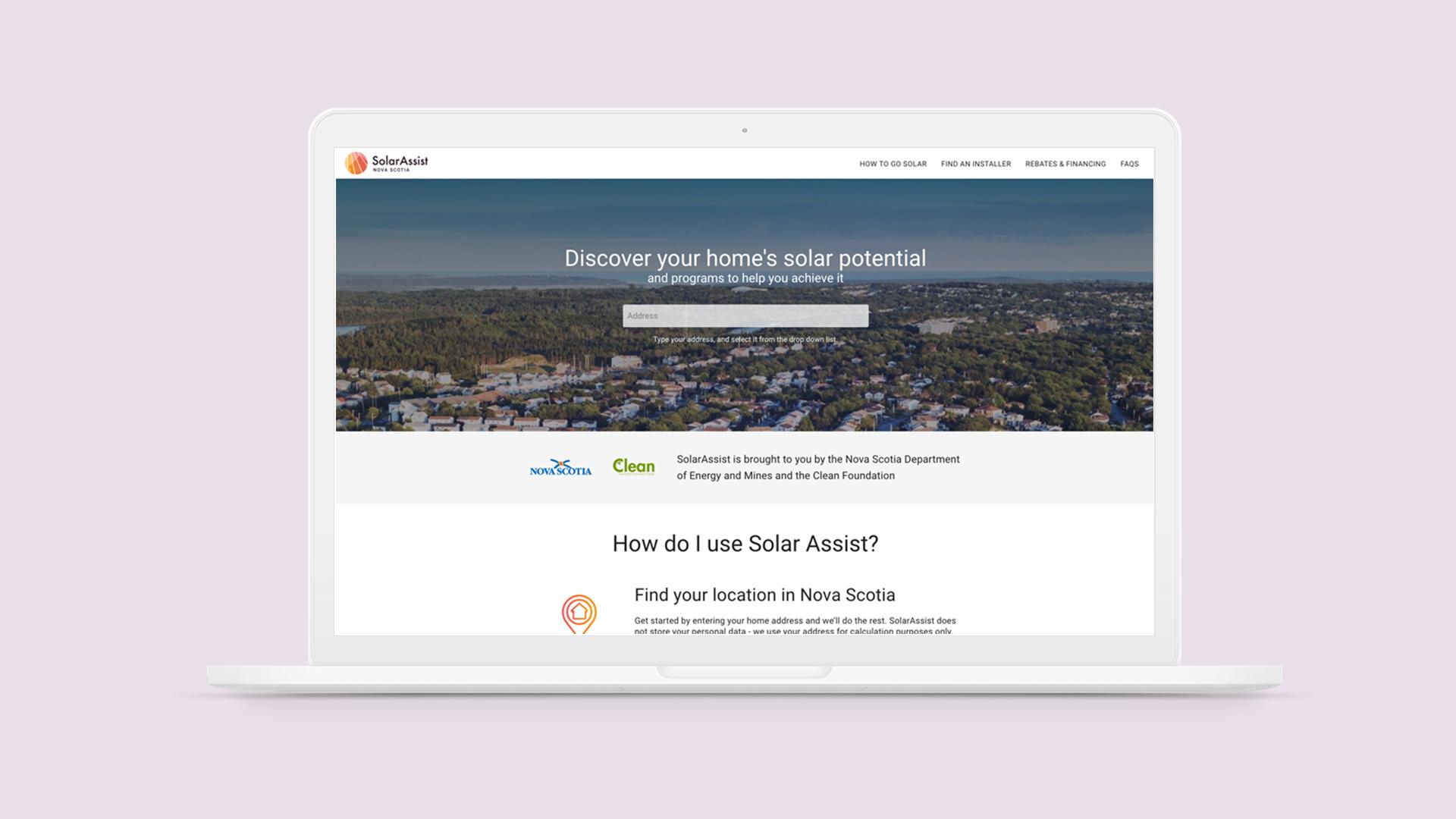 SolarAssist Nova Scotia Homepage