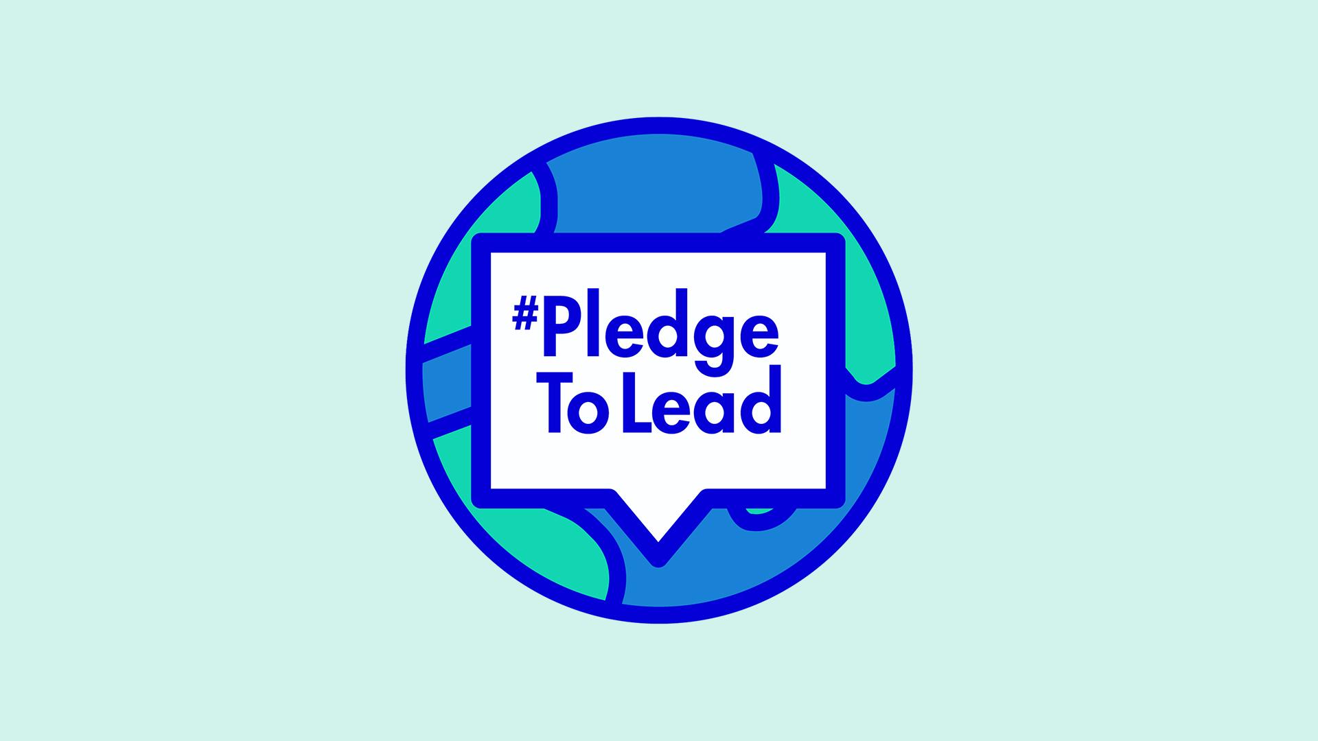 #PledgeToLead Logo