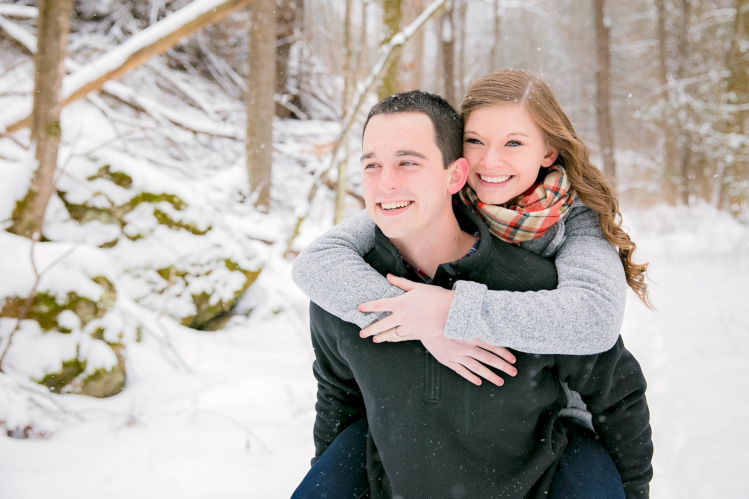 Tri-Cities, TN snowy engagement session