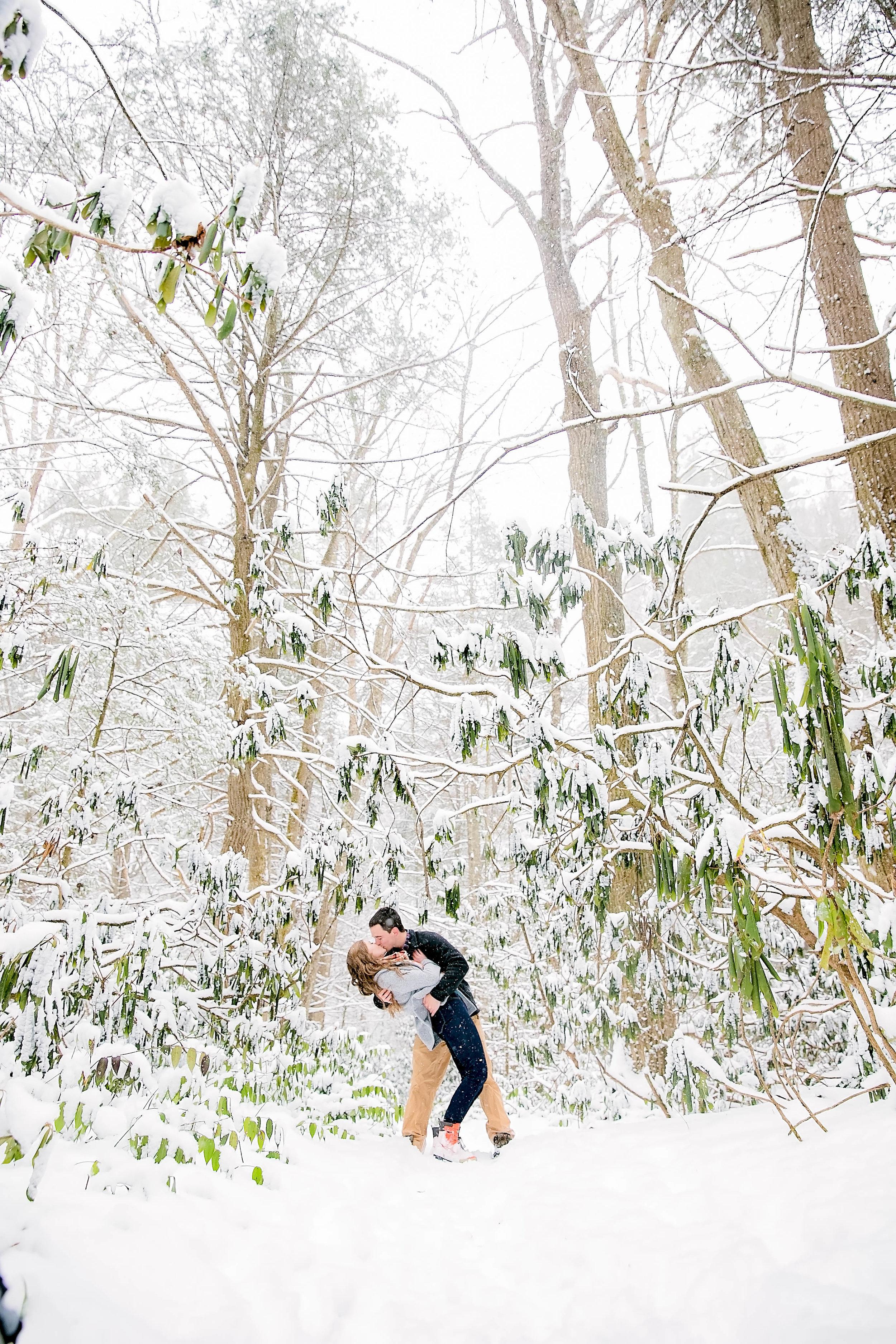 Hiking engagement photo