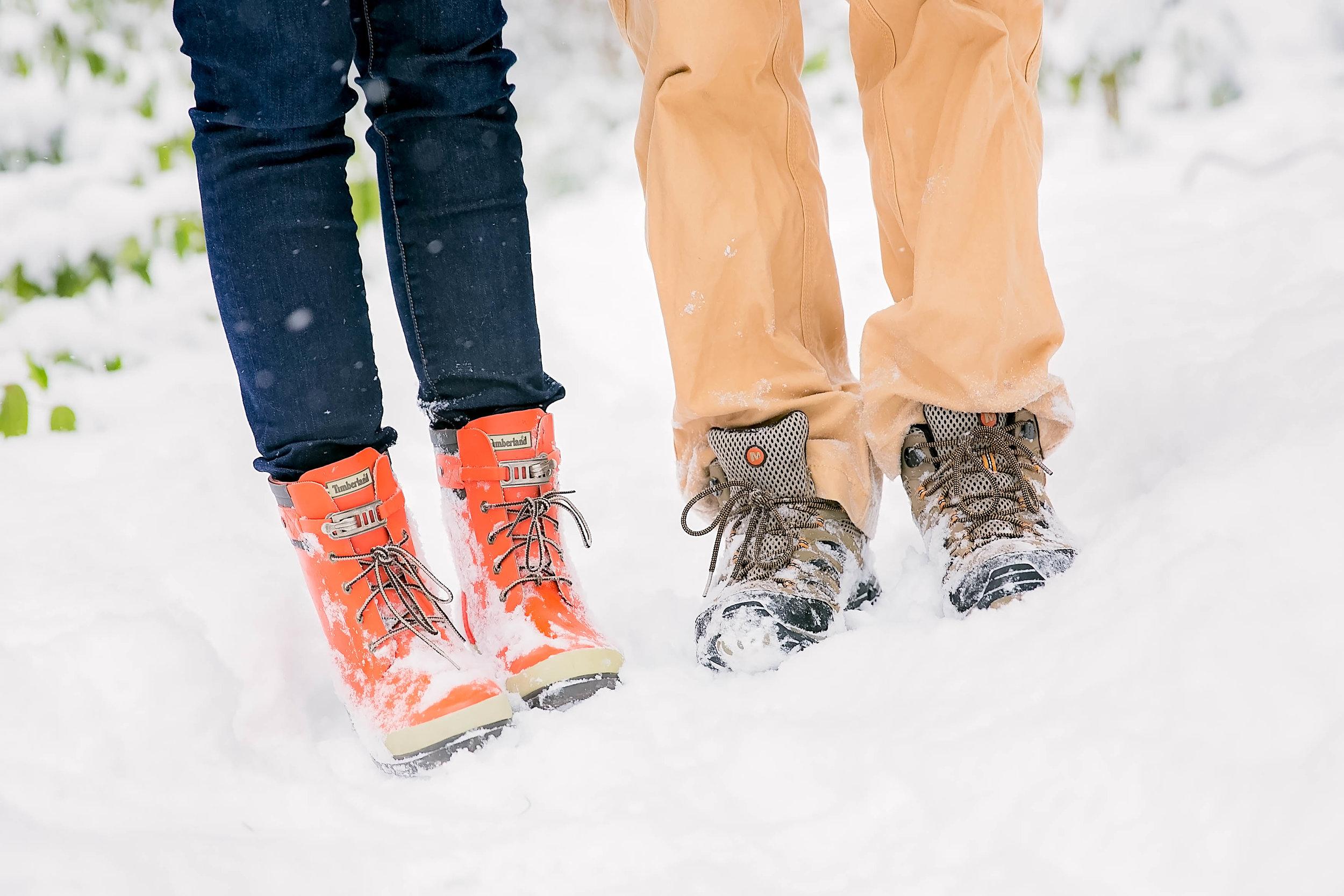 Engagement photos, shoe shot