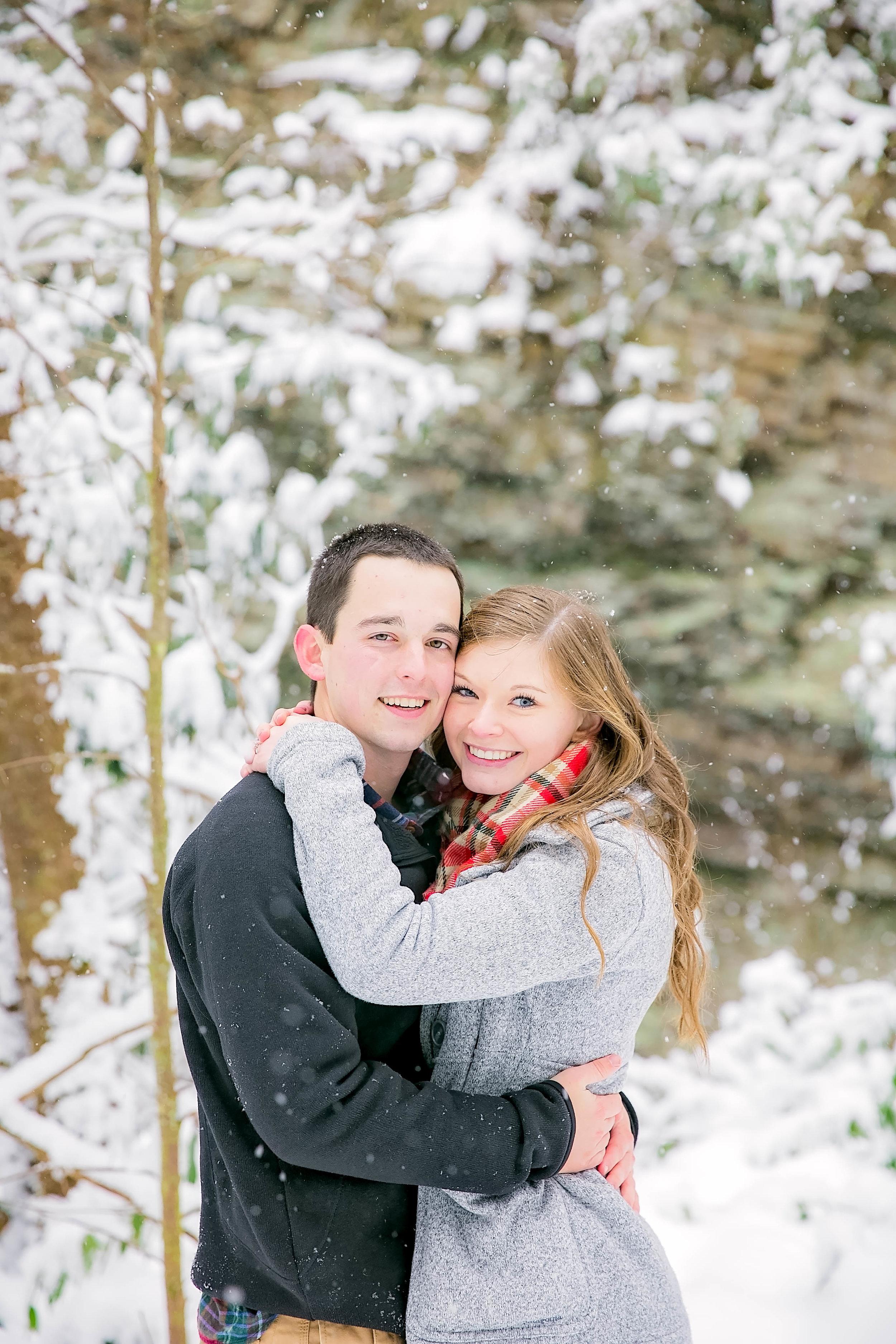 Romantic snowy couple session