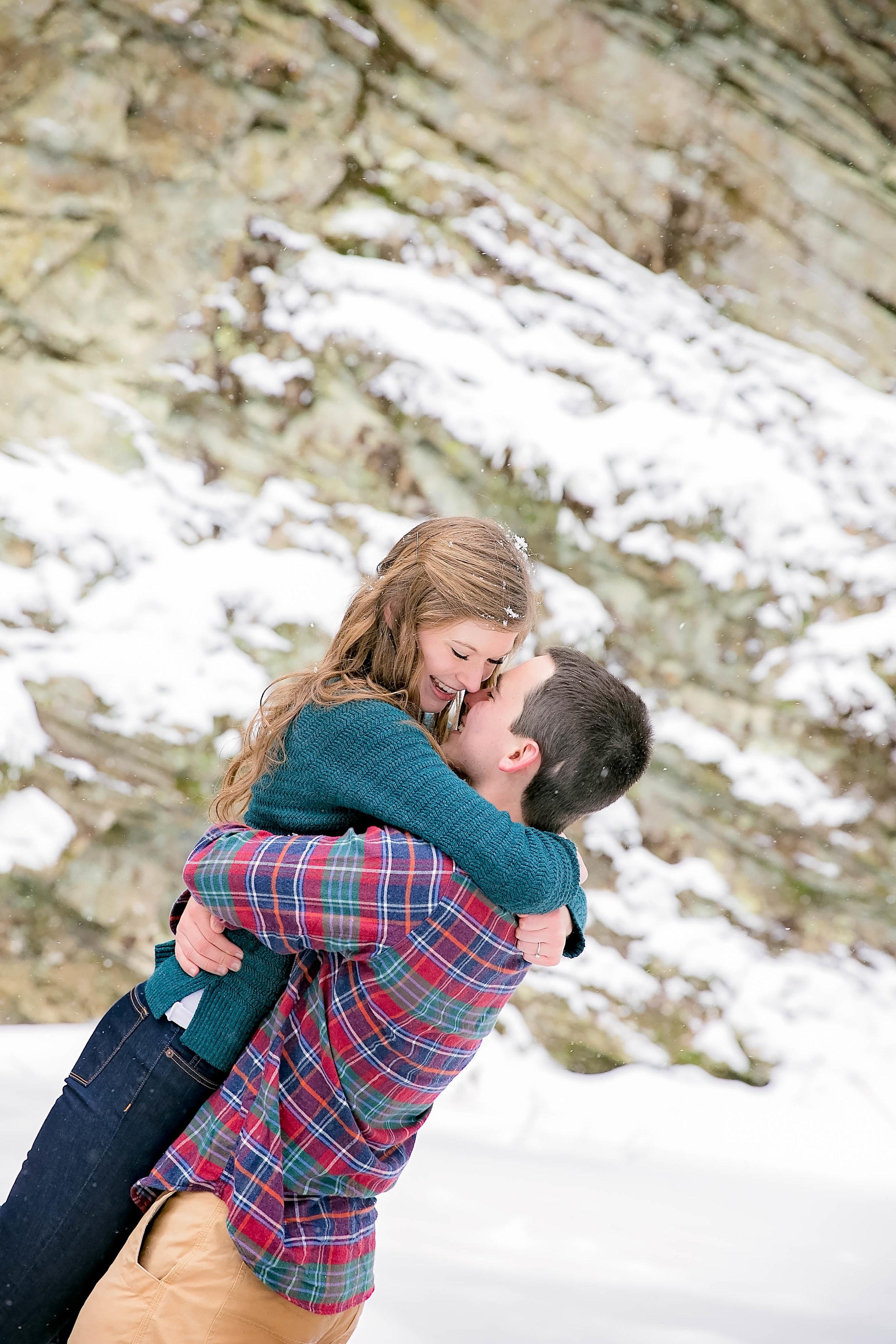 Playful embrace, engagement session