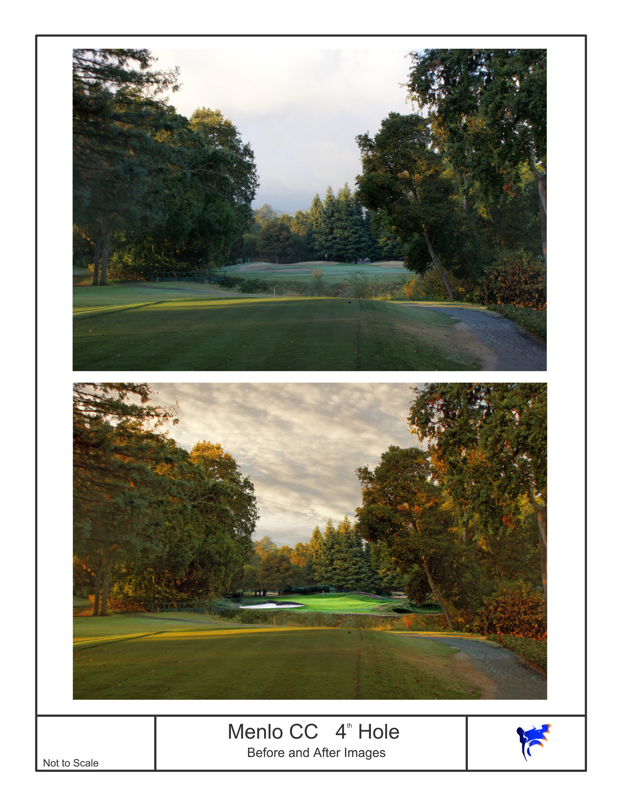 - We use software that allows us to alter photographs of existing golf holes and show how it might look after being completed.