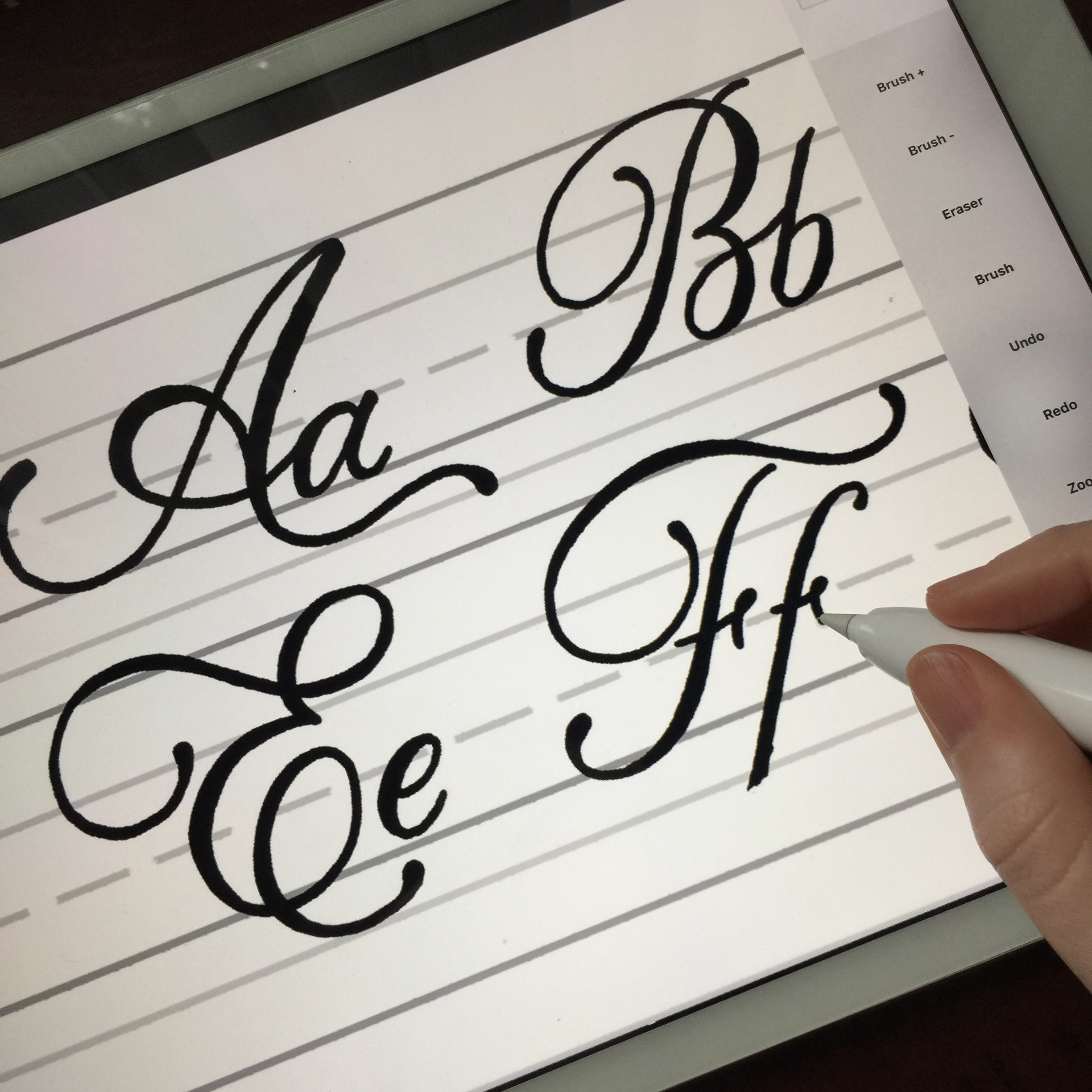 lettering using astropad