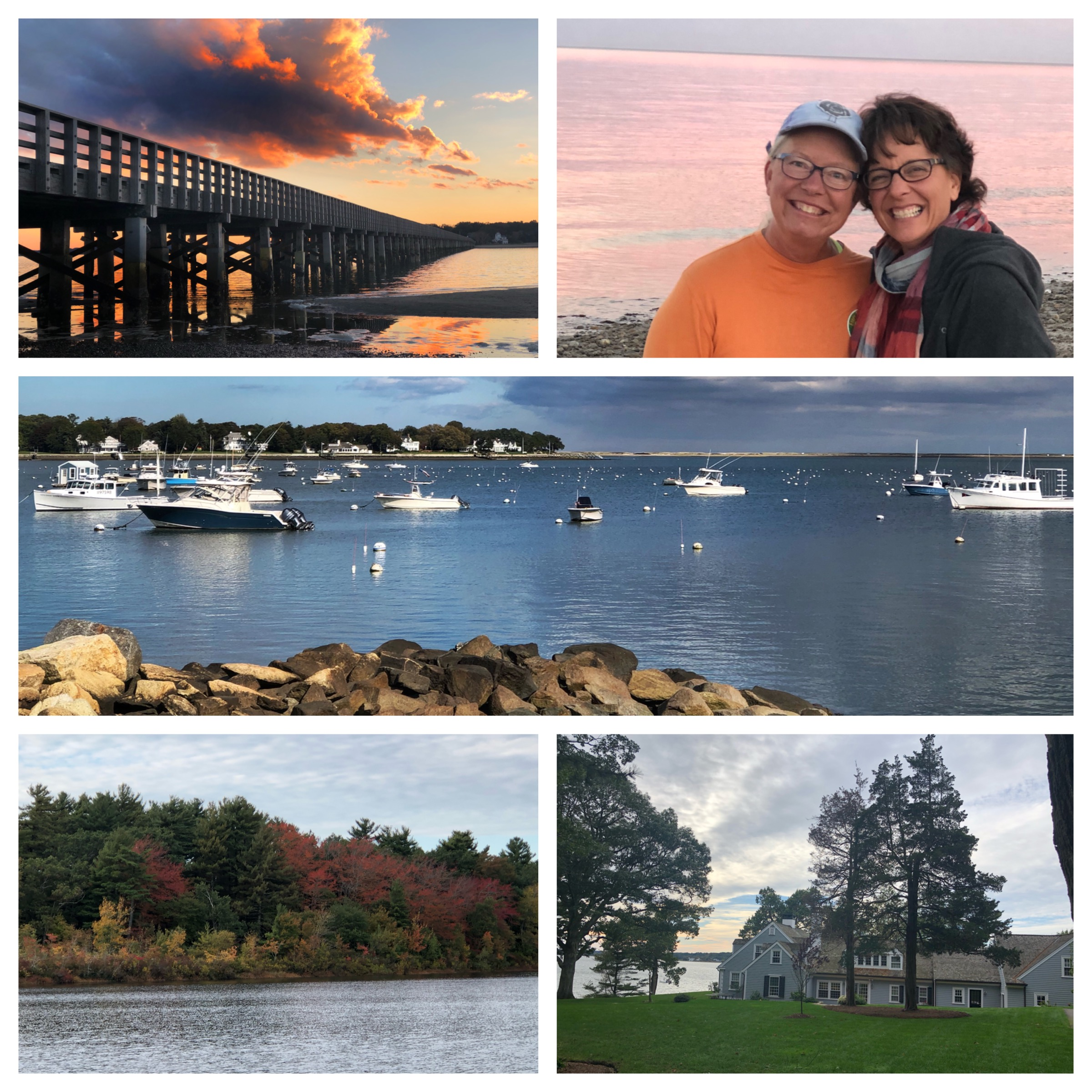 Duxbury Bay, and Big Beach. Looking out to the bay from the house where Aunt Sue and Dad grew up.