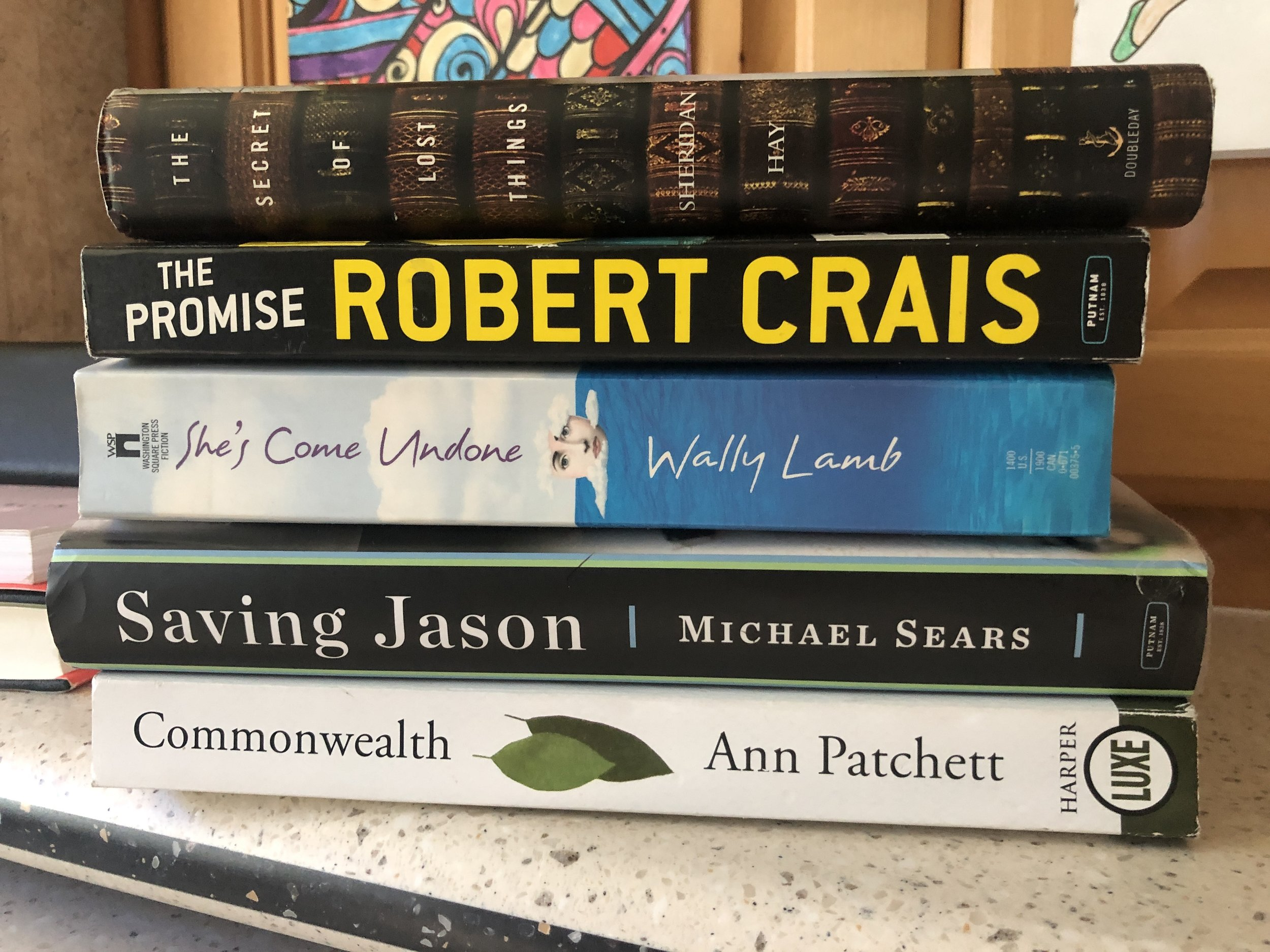 Getting Caught Up - Remember that part about no cell I mentioned in an earlier post? Unplugged = catching up on books stacked everywhere. Some good, some just ok….but they can find a new home now and I can start searching for more.
