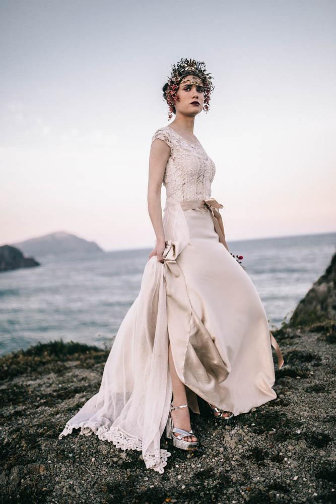 bride on cliff, yemayá
