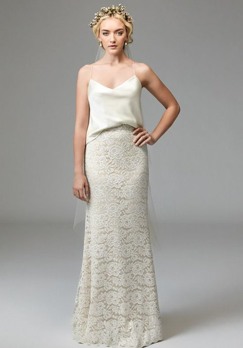 56126 Willoby by Watters (Skirt Only)  Size 8/Ivory/Champagne  $675 now $337.50
