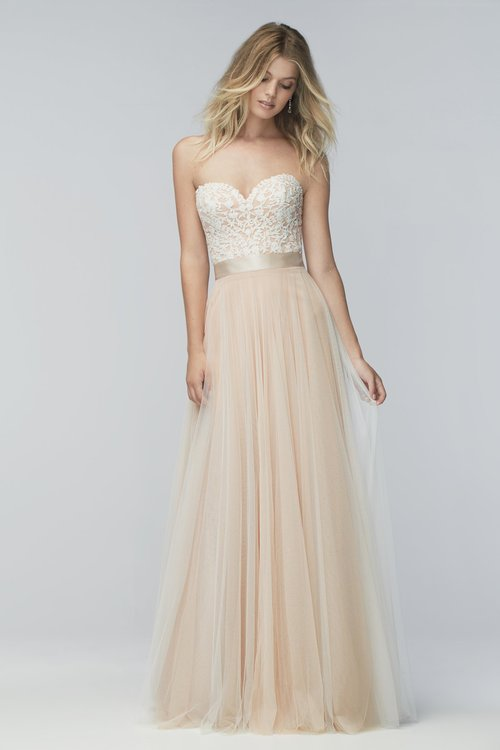 16718 Wtoo by Watters  Size 12/Ivory/Rosegold  $988 now $790.40