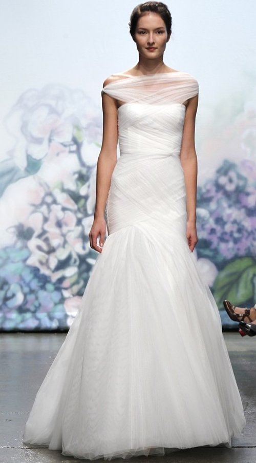 Emotion by Monique Lhullier  Size 10/Silk White  $6,170 now $1,851