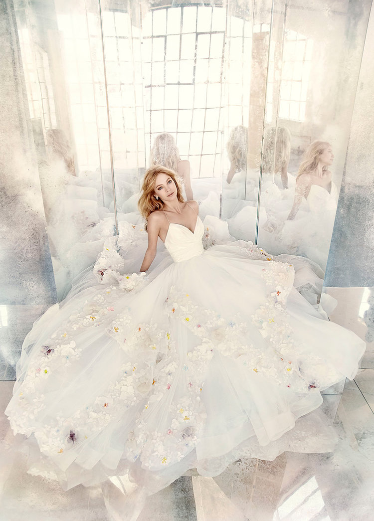 Paige by Hayley Paige   Size 10/Ivory/Painted  $7,480 now $3,740