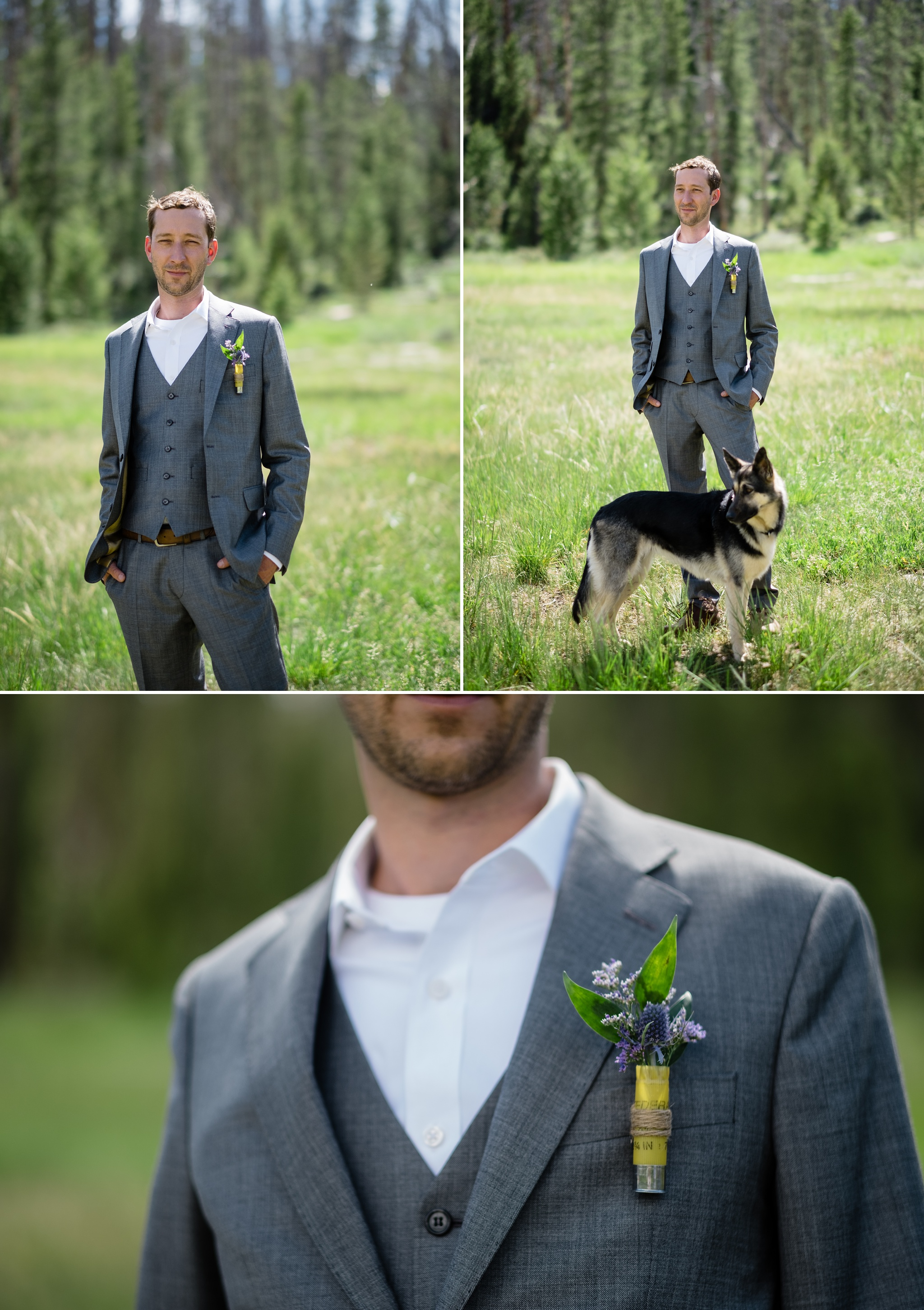 Groom at the AA Barn in grand Lake
