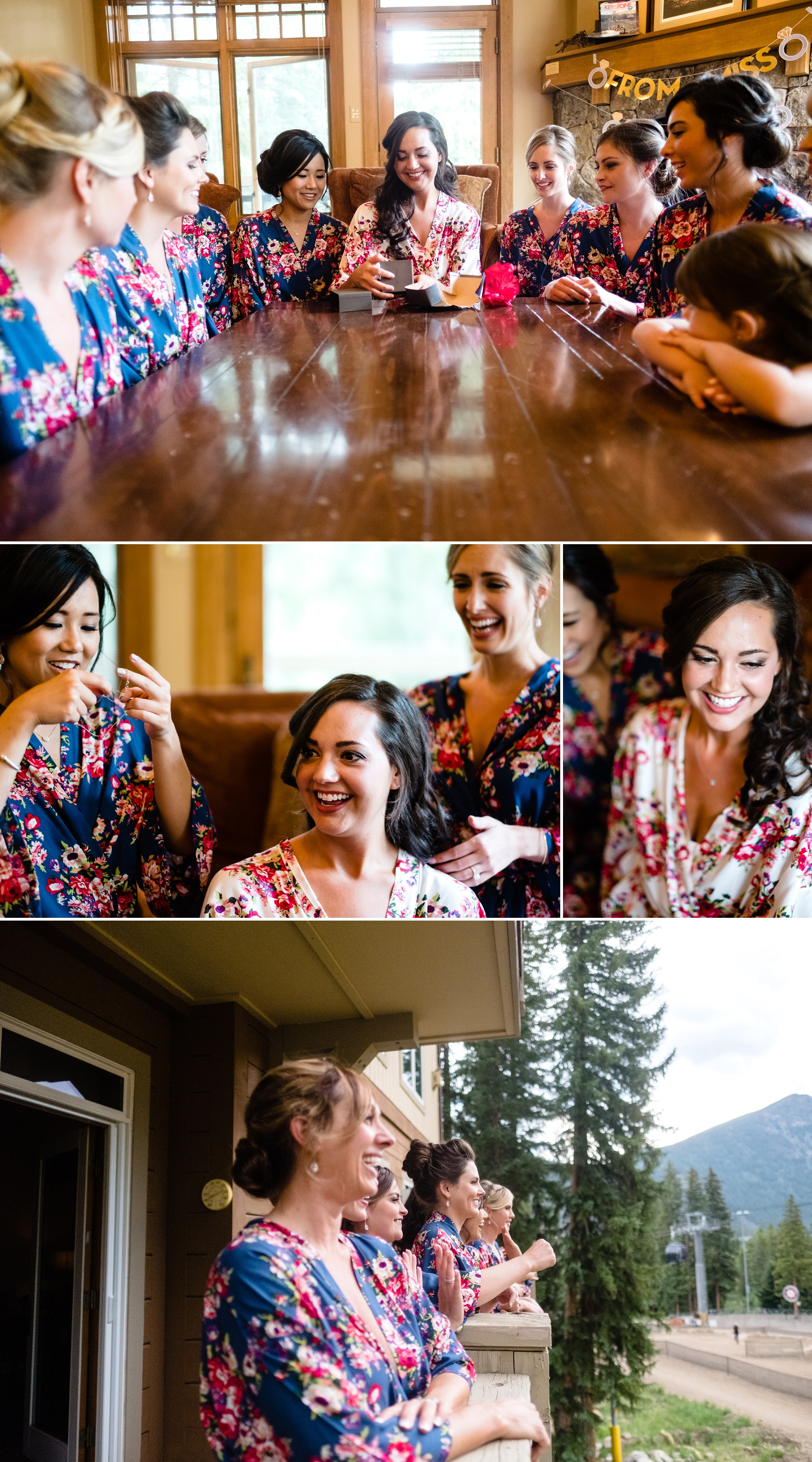 Alli getting ready at her Timber Ridge Lodge Wedding