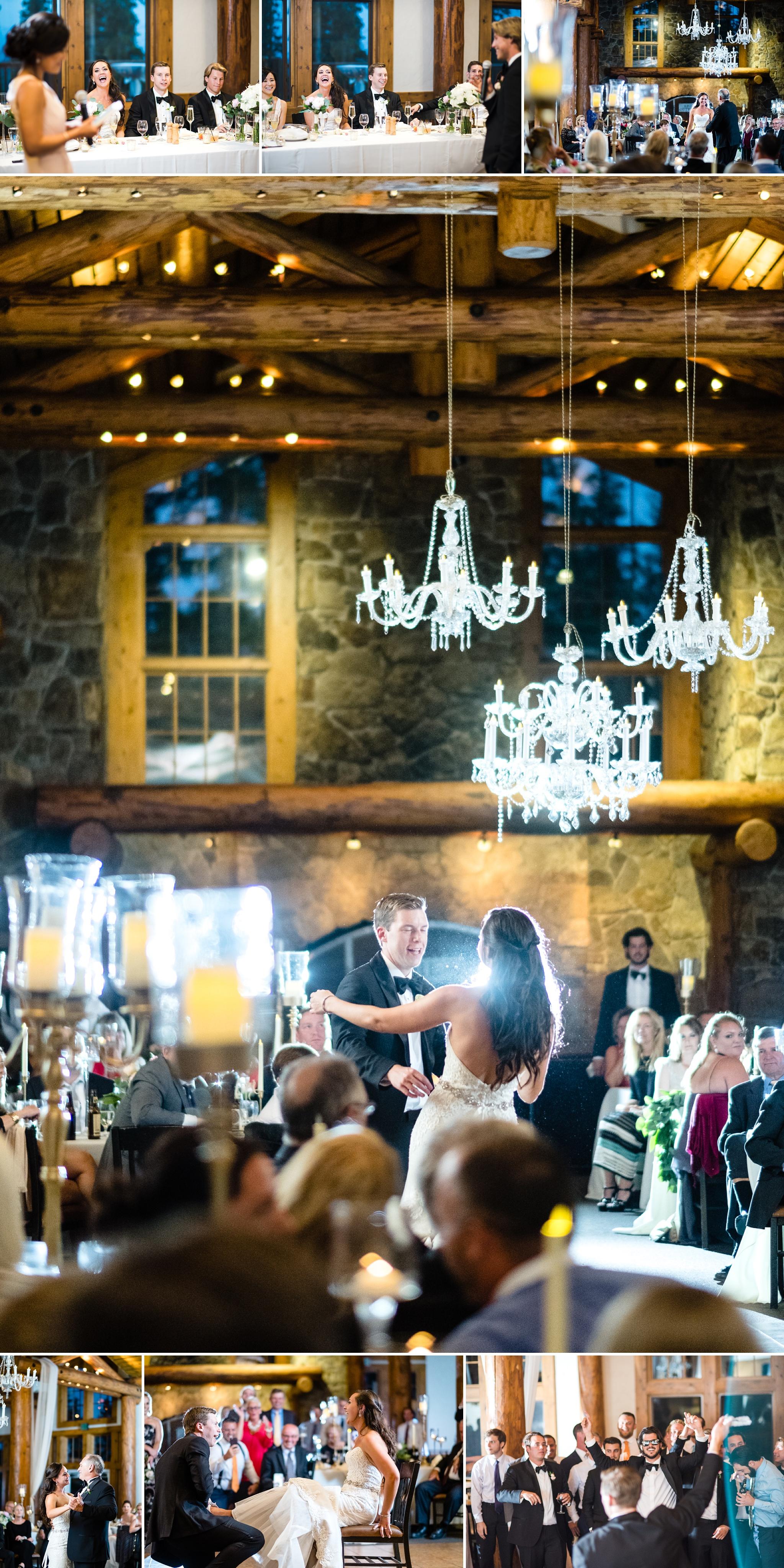 Timber Ridge Lodge Wedding Reception in Keystone, Colorado