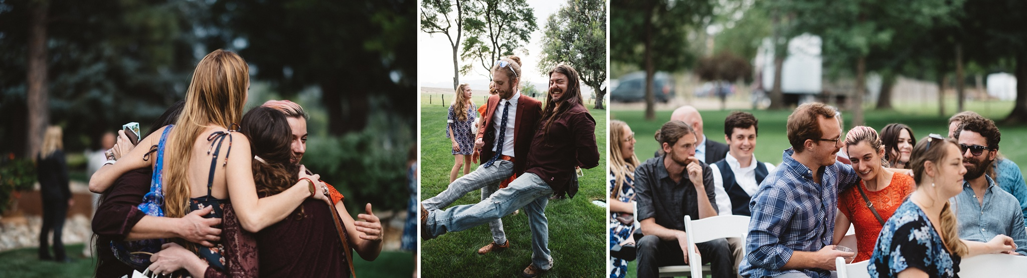 guests minging at schupe homestead wedding
