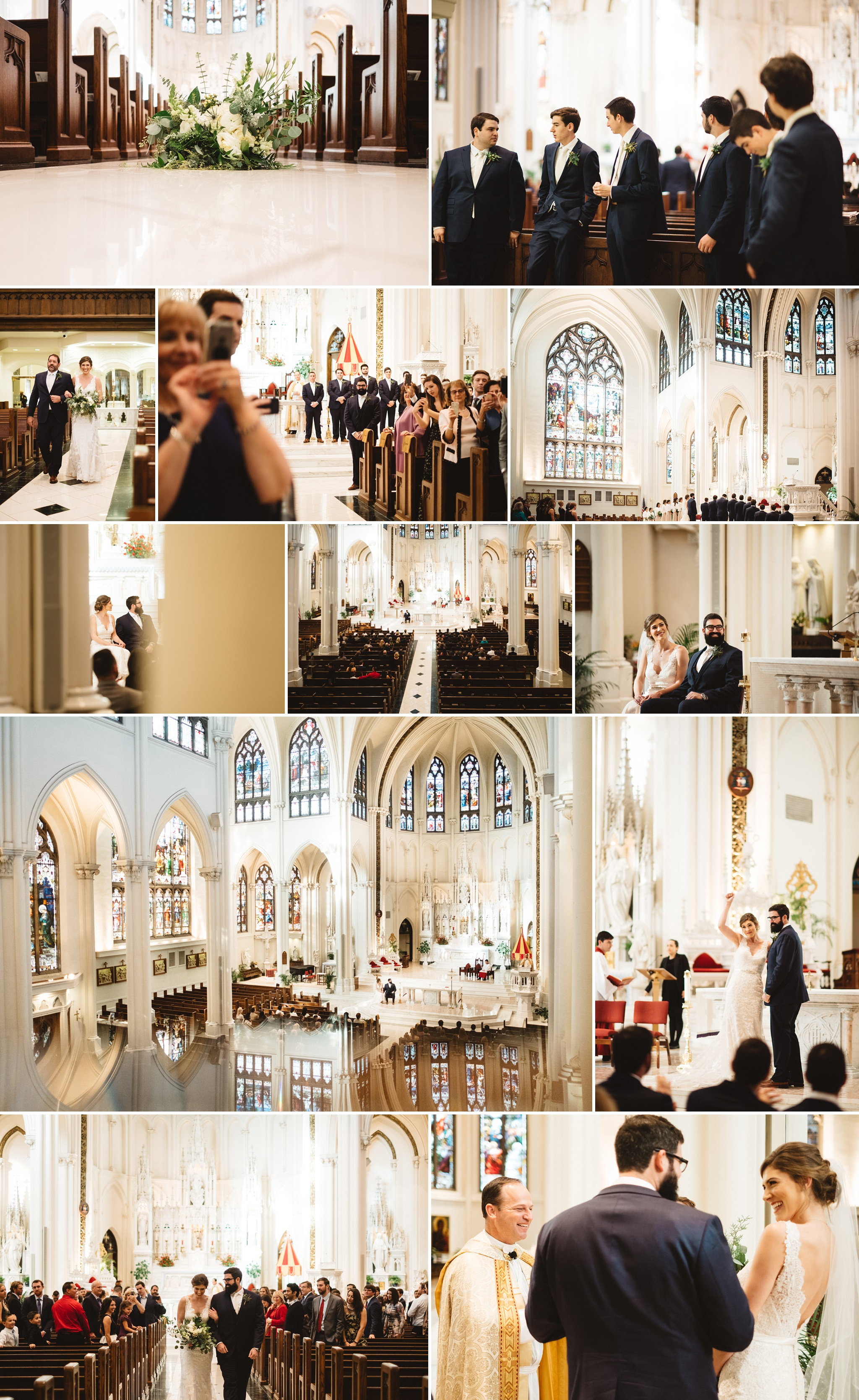 Sarah + Charlie's ceremony at the Cathedral Basilica of Immaculate Conception, Denver.