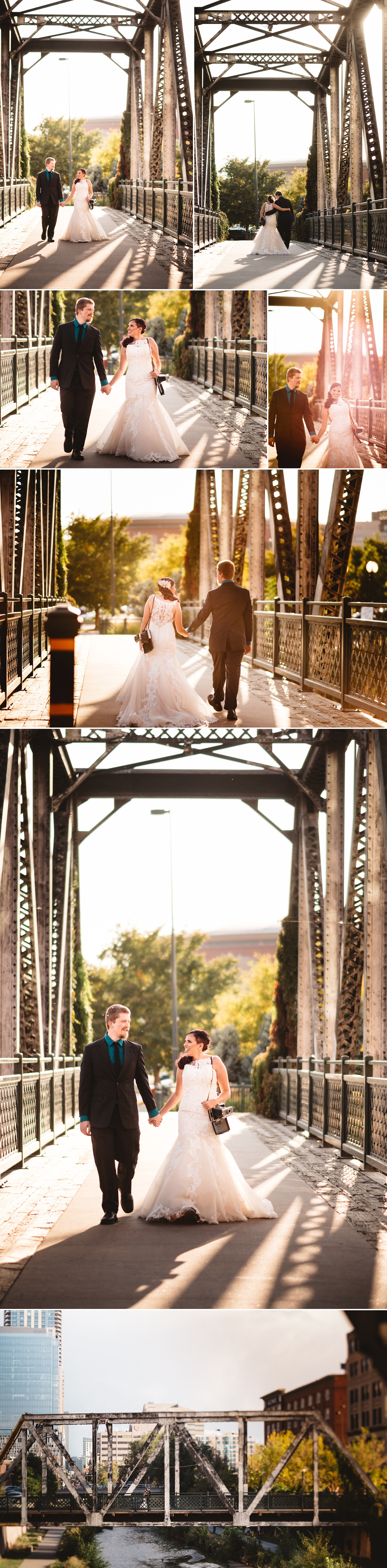 I love the bridges over the Platte for wedding photos!