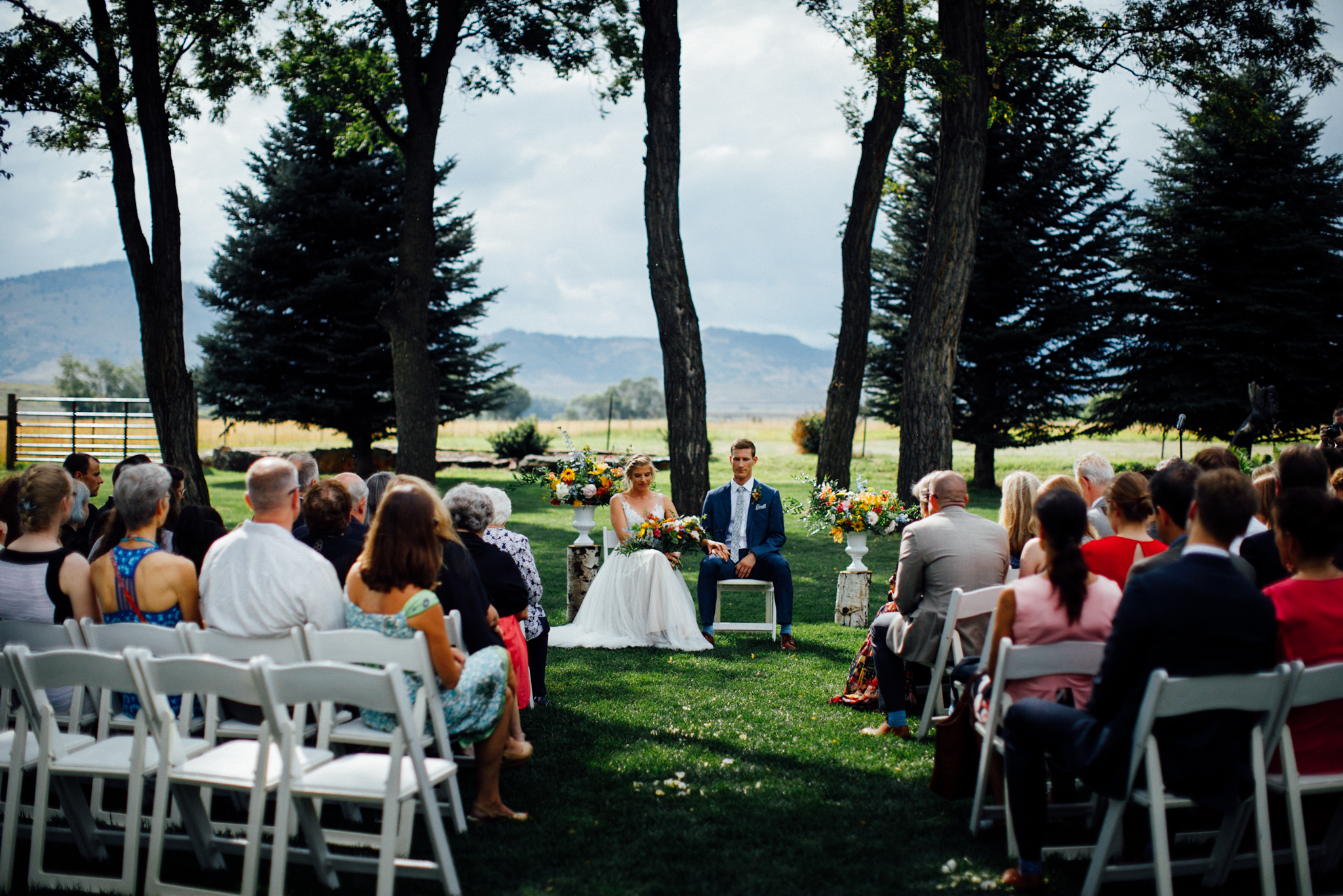 The gorgeous outdoor ceremony site at Shupe Homestead.