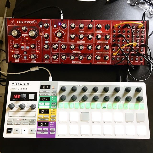 It's semi modular but even before this Behringer Neutron arrived yesterday I've been thinking about building a full modular synth techno machine. My wallet is going to cry 😂 . . . . . . #neutron #synthesizer #synth #modularsynthesizer #semimodularsynth #modularsynth @behringer #techno #musicproducer #musicproduction #dj #live #recordlabel #cortexrecordings #technomachine #gearlust #gearacquisitionsyndrome