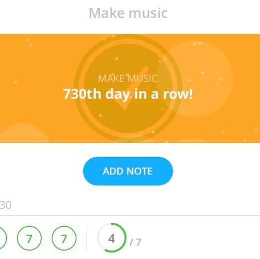 As of today I've been on a two year streak of making music every single day! (730/2=365) . . . . . . #techno #musicproducer #musicproduction #dj #live #recordlabel #cortexrecordings #productivity #streak #dailyhabits #dailyhabitschallenge #coachdotme