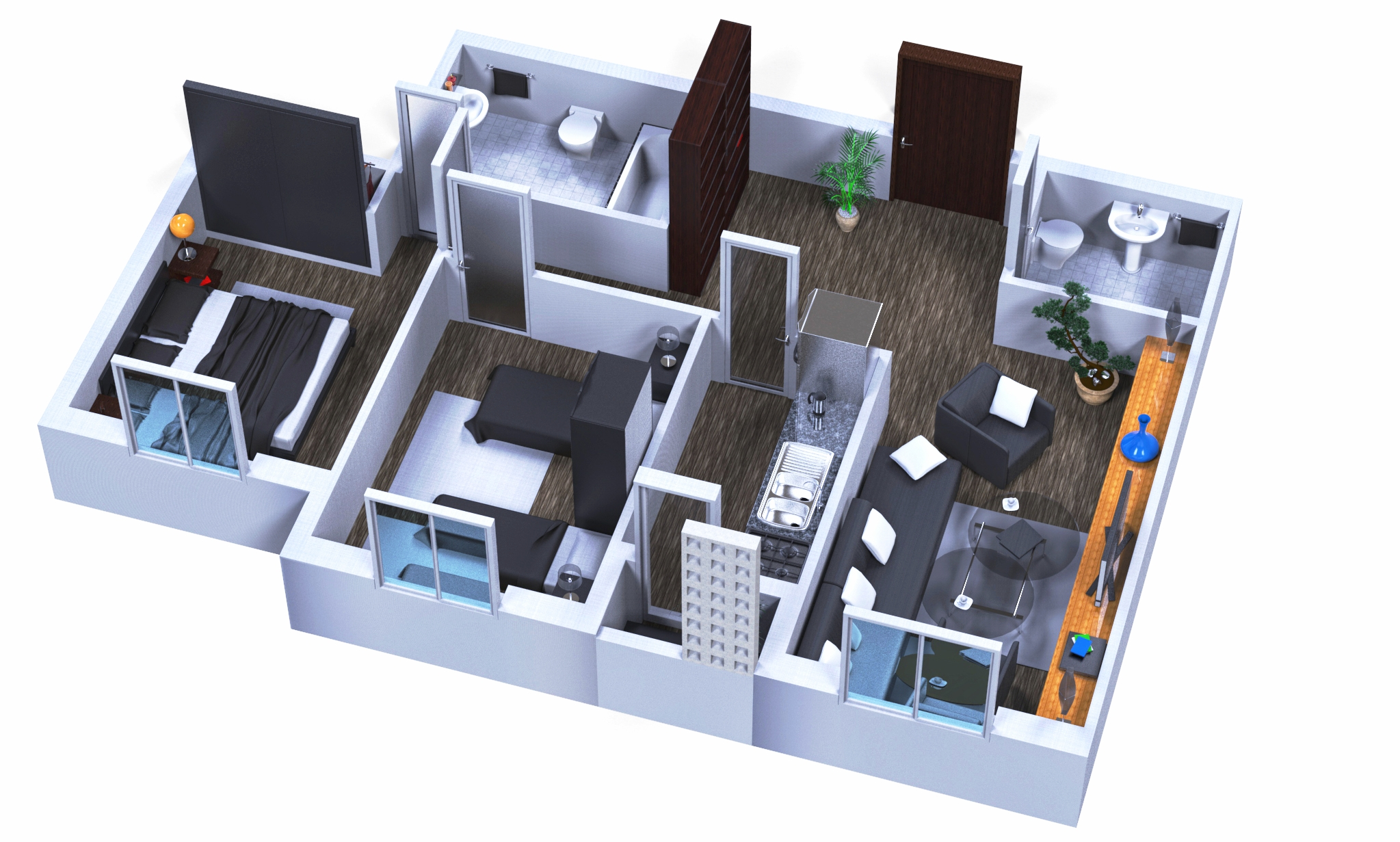 Floor plan renderings are a great way to nail those proposals.