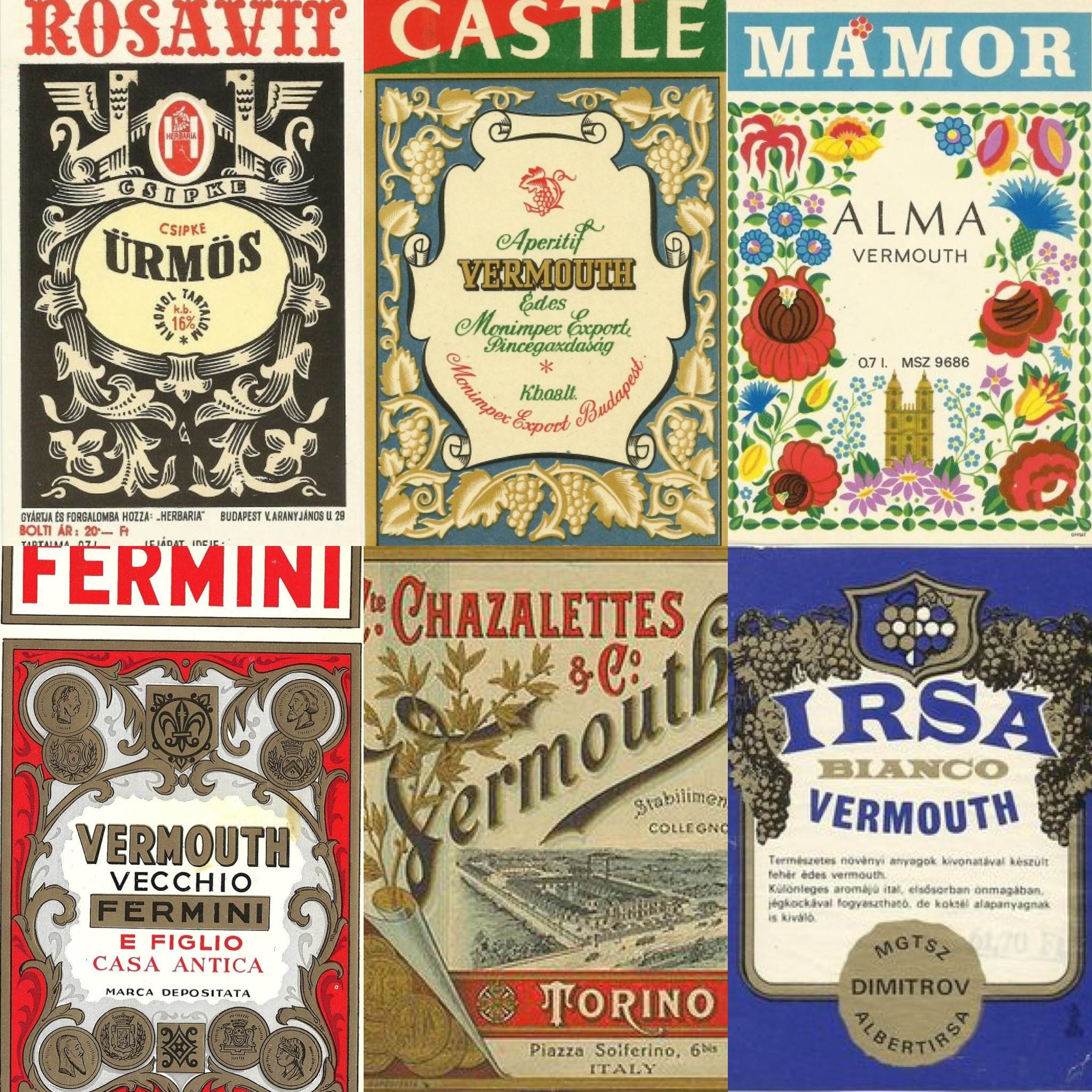 vintage vermouth labels
