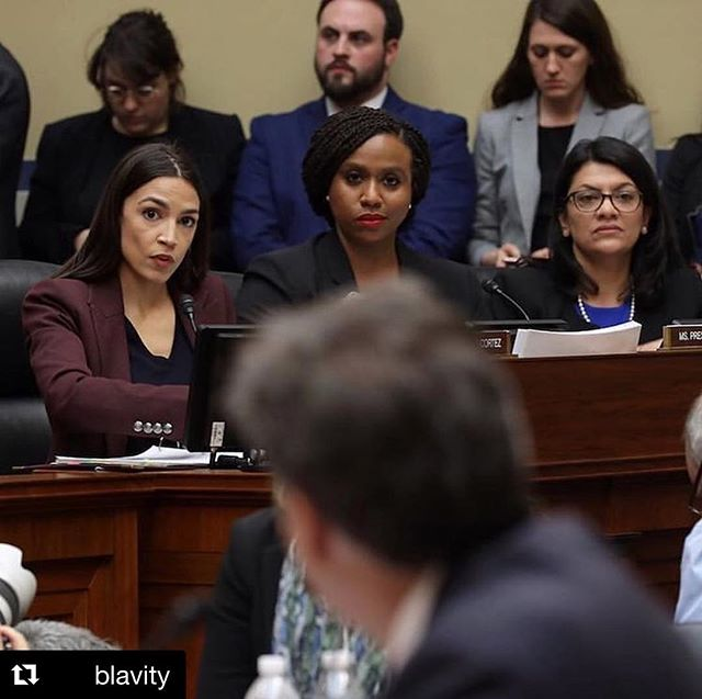 Caption this greatness. #Repost @blavity ・・・ #WomenInPolitics 💪🏾✨✨(@Ocasio2018 @RashidaTlaib @AyannaPressley) #WomensHistoryMonth