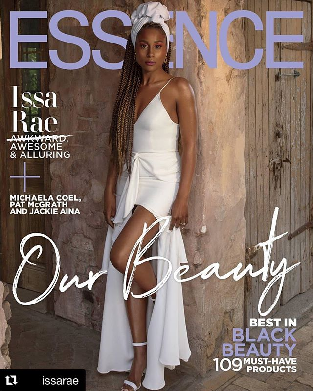"We are unable! 🔥🔥🔥 @issarae looking absolutely gorgeous on the cover of @essence. And reading her graceful, grateful caption about the journey to this cover only makes us love her more! Congratulations, Star! #Repost @issarae ・・・ Four years ago, when all I had was a web series and a book, @Essence put me on my first cover with four incredible women I look up to: Ava, Mara, Shonda and Ms. Debbie. It was their ""Game Changers"" issue and I kept thinking, ""I can't believe they chose me."" That cover meant so much to me because it validated my work on a platform I respected AND it was a nurturing recognition of promise, a promise that I didn't necessarily see in myself at the time. Four years later -- entering the fourth season of my TV show, and shooting my fourth movie in New York -- they honored me with this solo cover. Thank you, Essence, for helping me to deliver on that promise you saw years ago, and changing the game for me. 📸: @itayshaphoto Hair: @lovingyourhair  Face: @joannasimkin  Fits: @jasonrembert"