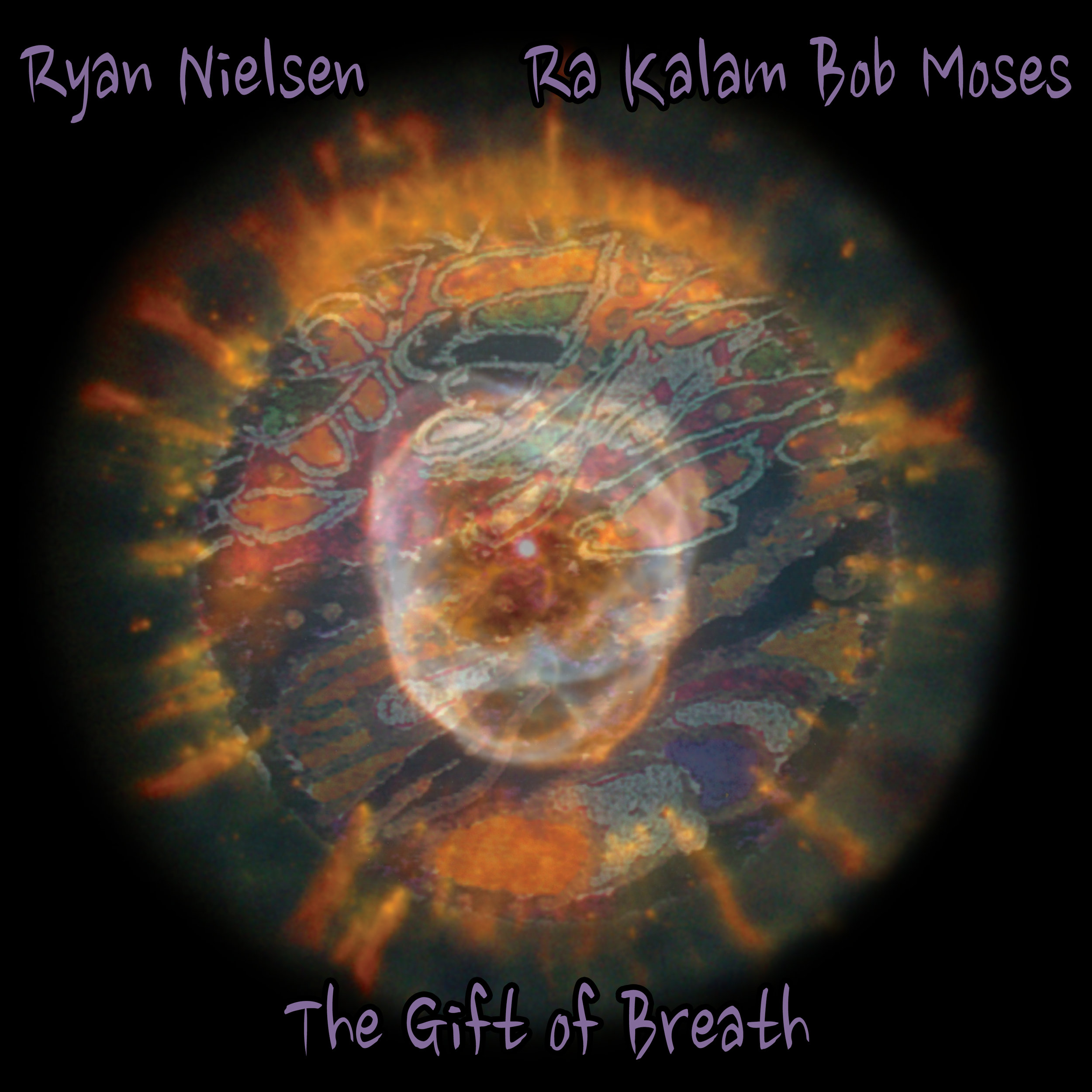 THE GIFT OF BREATH    by Ryan Nielsen and Ra Kalam Bob Moses    Compact Disc -    E-mail your order     Digital Downloads -    Amazon    -    iTunes     Release Date - 2014    Label - Ra Kalam Records    Ryan Nielsen - Trumpet    John Lockwood - Bass (Tracks 1, 10, 11)    Aryeh Kobrinski - Bass (Tracks 1, 2, 3, 4, 5, 8, 9, 10)    Ra Kalam Bob Moses - Drums, djembe, gongs, talking drum, keyboard     SAMPLE