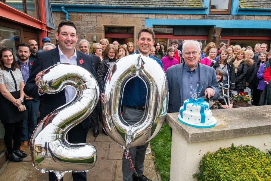 Miles attending the 20th birthday party for Edinburgh's Maggie's Centre