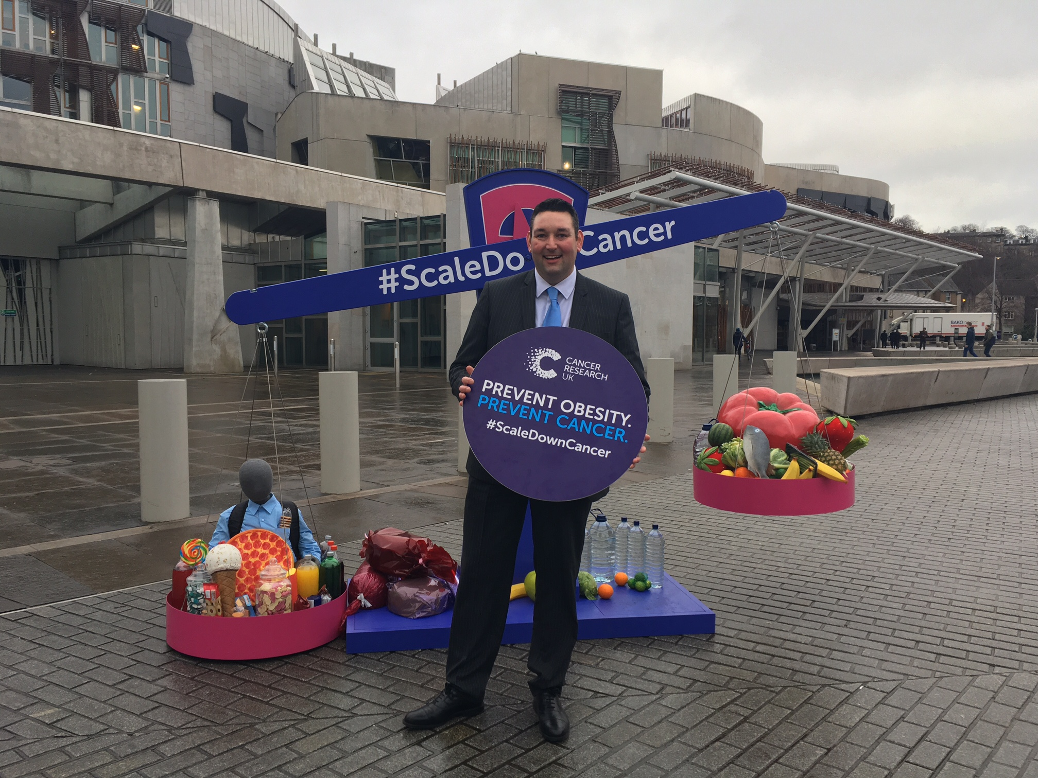 Miles backing Cancer Research UK's obesity campaign