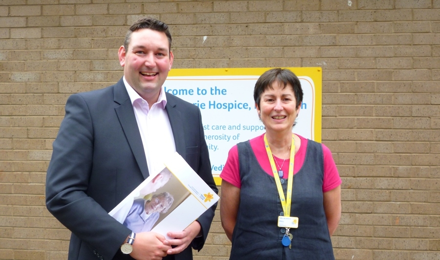 Miles visiting Marie Curie's Hospice at Fairmilehead