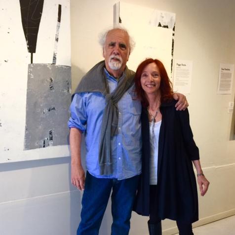 Santa Barbara artists Philip Koplin and Peggy Ferris at the reception.