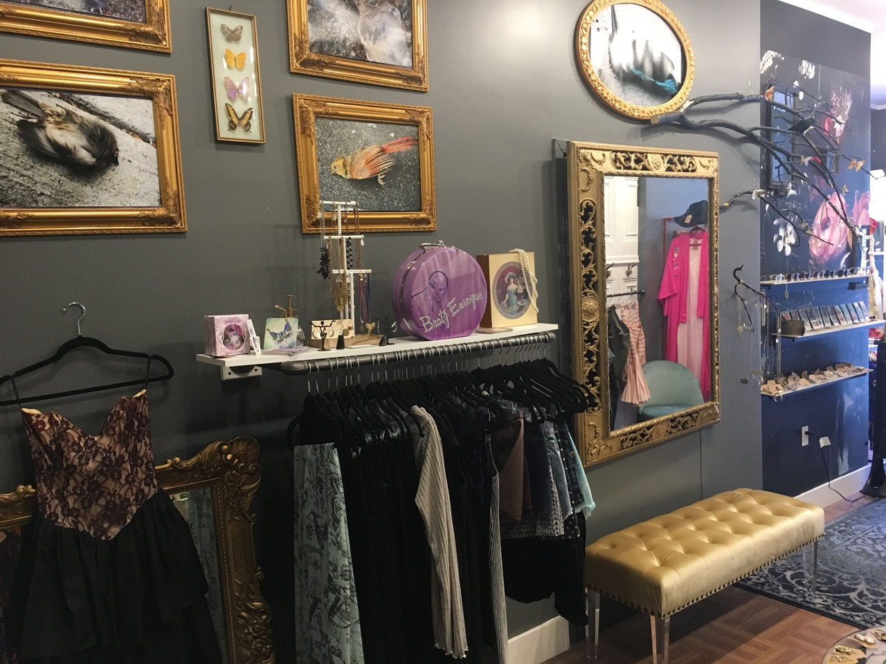 The Shop - Candy Colored Girl is one of the only vintage, second hand stores in Bed Stuy Brooklyn We are very neighborhood focused and love seeing our neighbors as well as new faces come through the door.