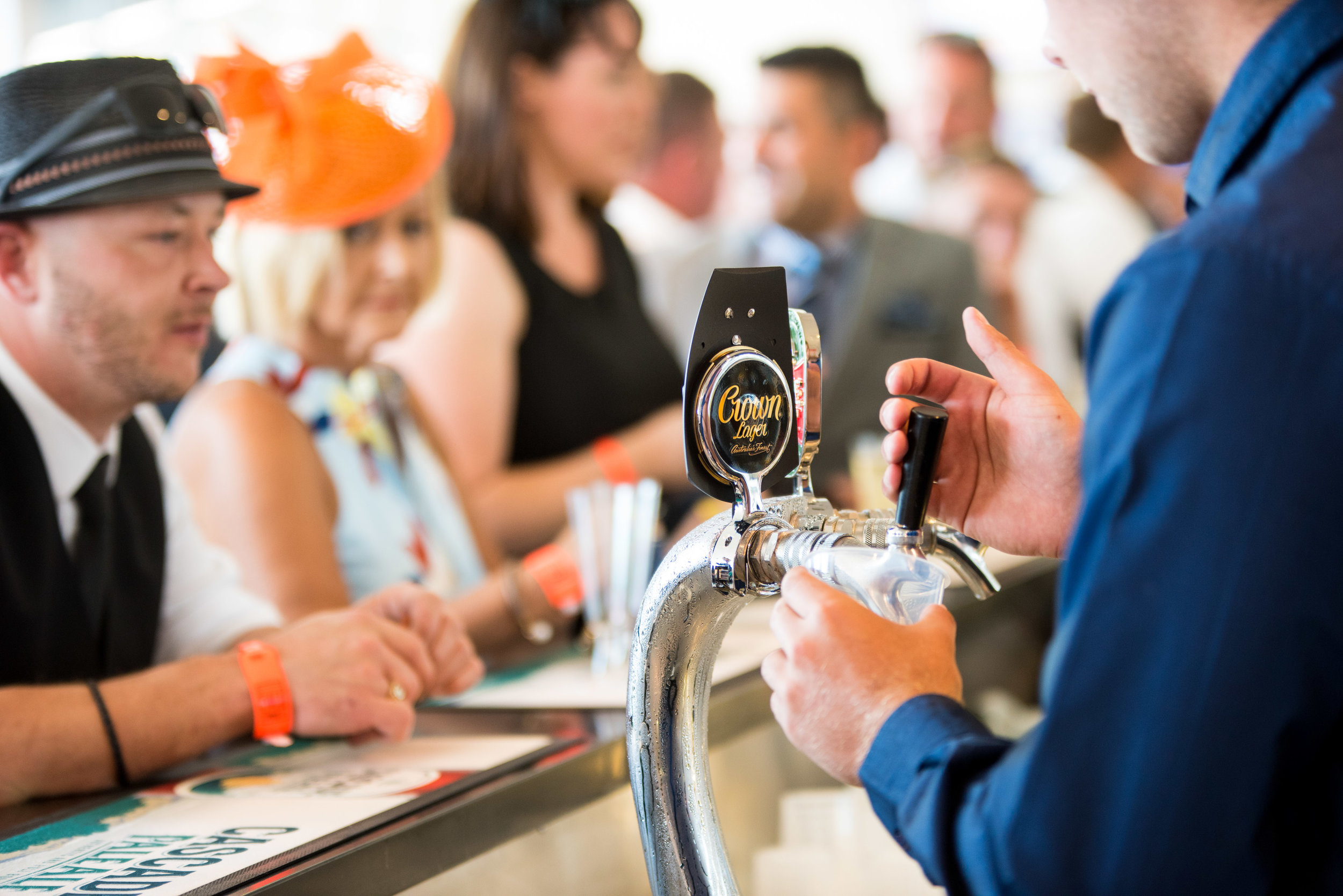 Hobart Cup Horse and Hound Bar Beer Pouring Crown Lager Beer Tap Events functions (4).jpg