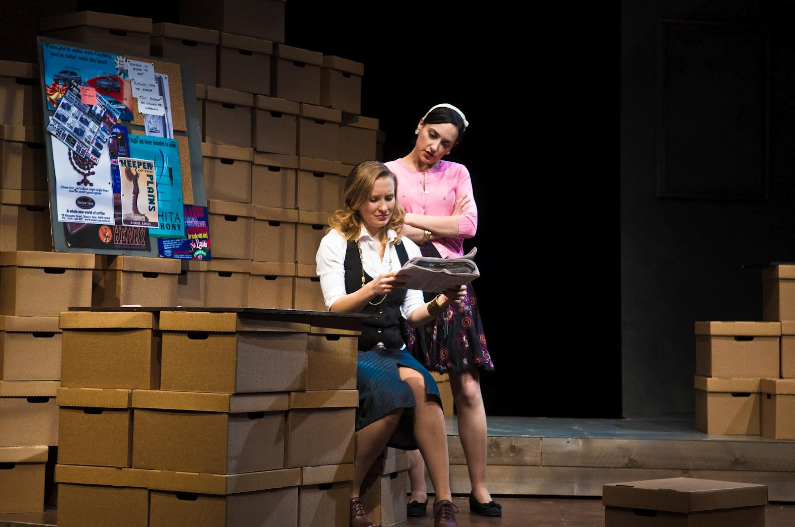 """Georgina McKee and Libby Amato in """"A Thousand Words."""" Photo by Nick Berard."""