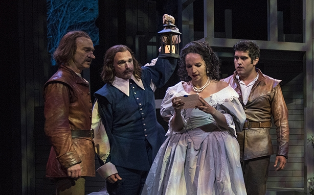 Cyrano de Bergerac, adapted and directed by James DeVita, currently onstage at American Players Theatre