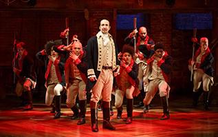 Lin-Manuel Miranda in the Broadway production of  Hamilton .